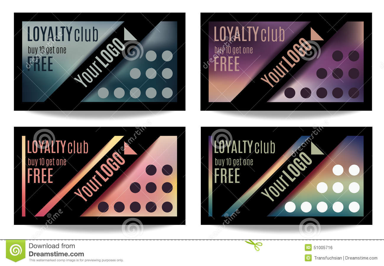 free loyalty pictures fun customer loyalty card templates stock vector 2654