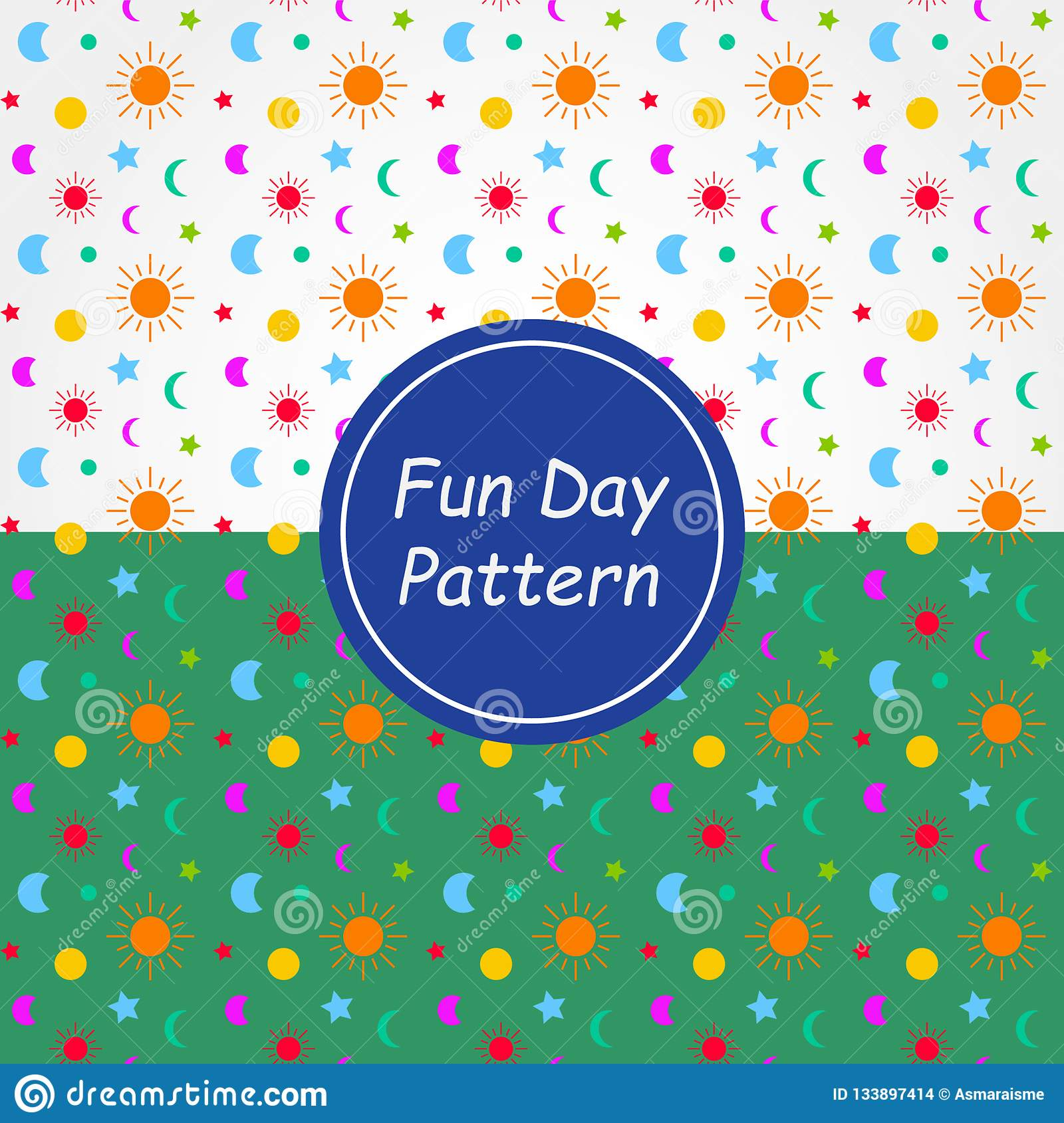 Fun Day Pattern Background and texture