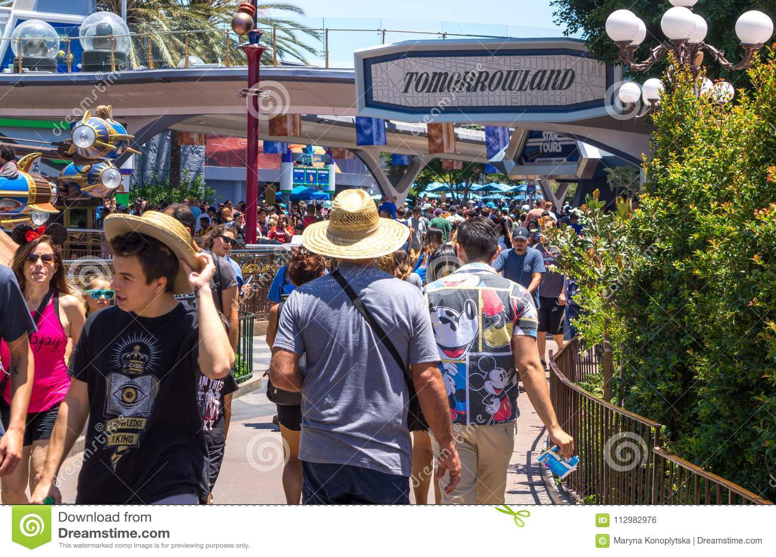 Fun at Disneyland Park in Anaheim, California, USA. Los Angeles Tourist Attractions
