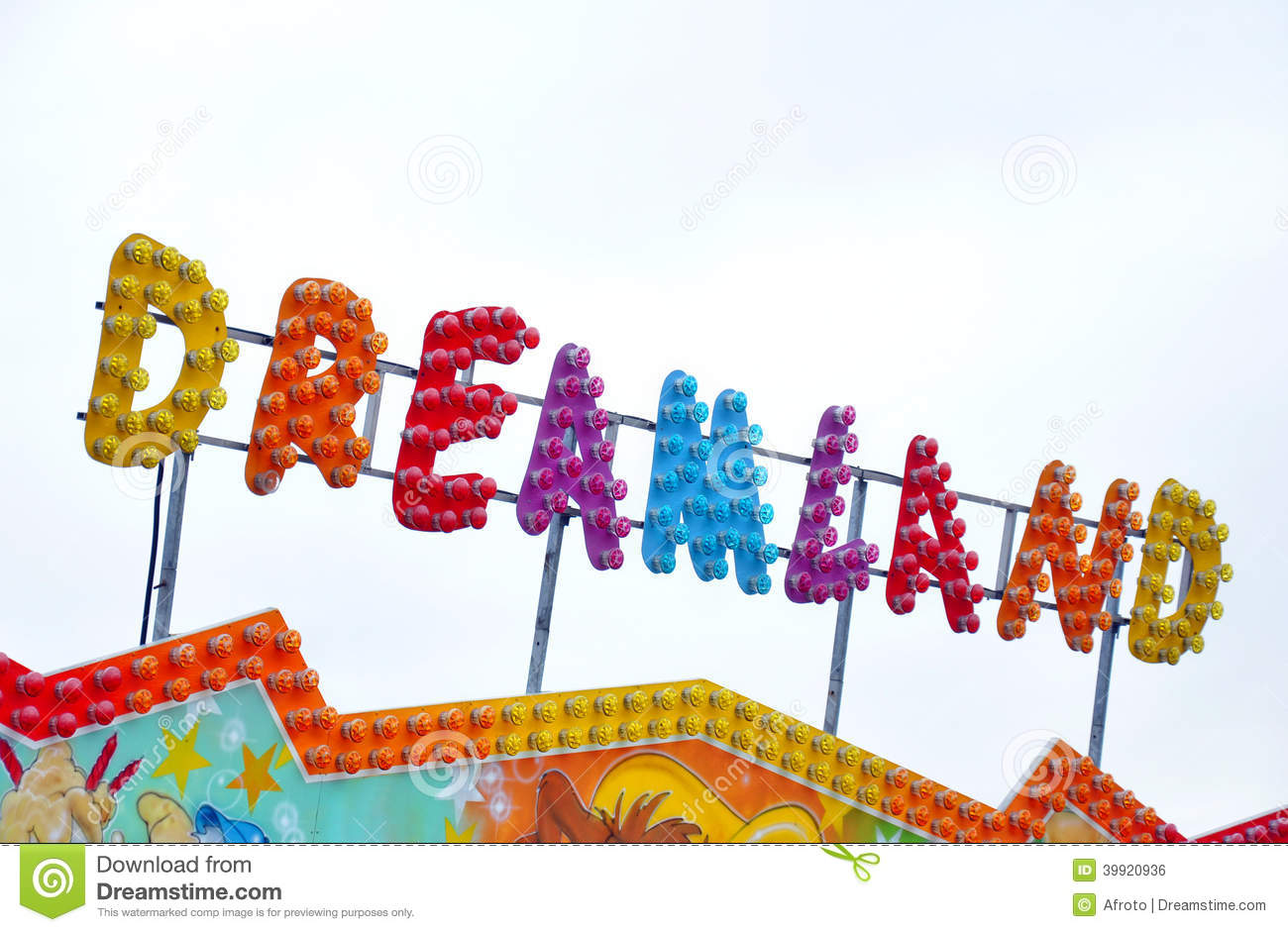 carnival circus funfair letters stock photos image 38040233