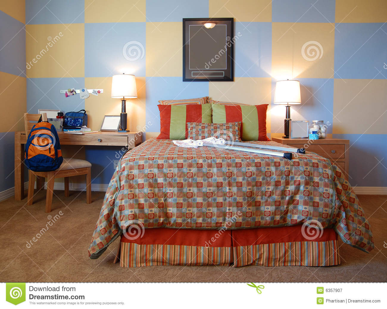 Fun Funky Childrens Bedroom Stock Image - Image of modern ...