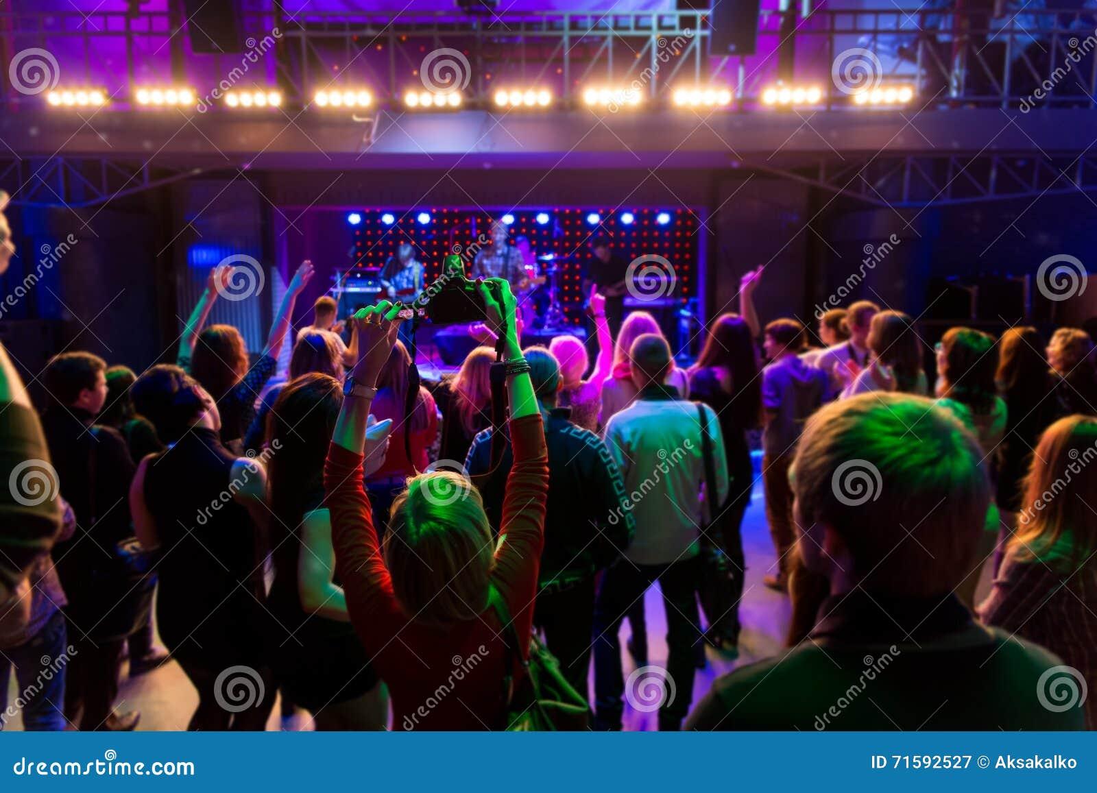 Fun girl at concert