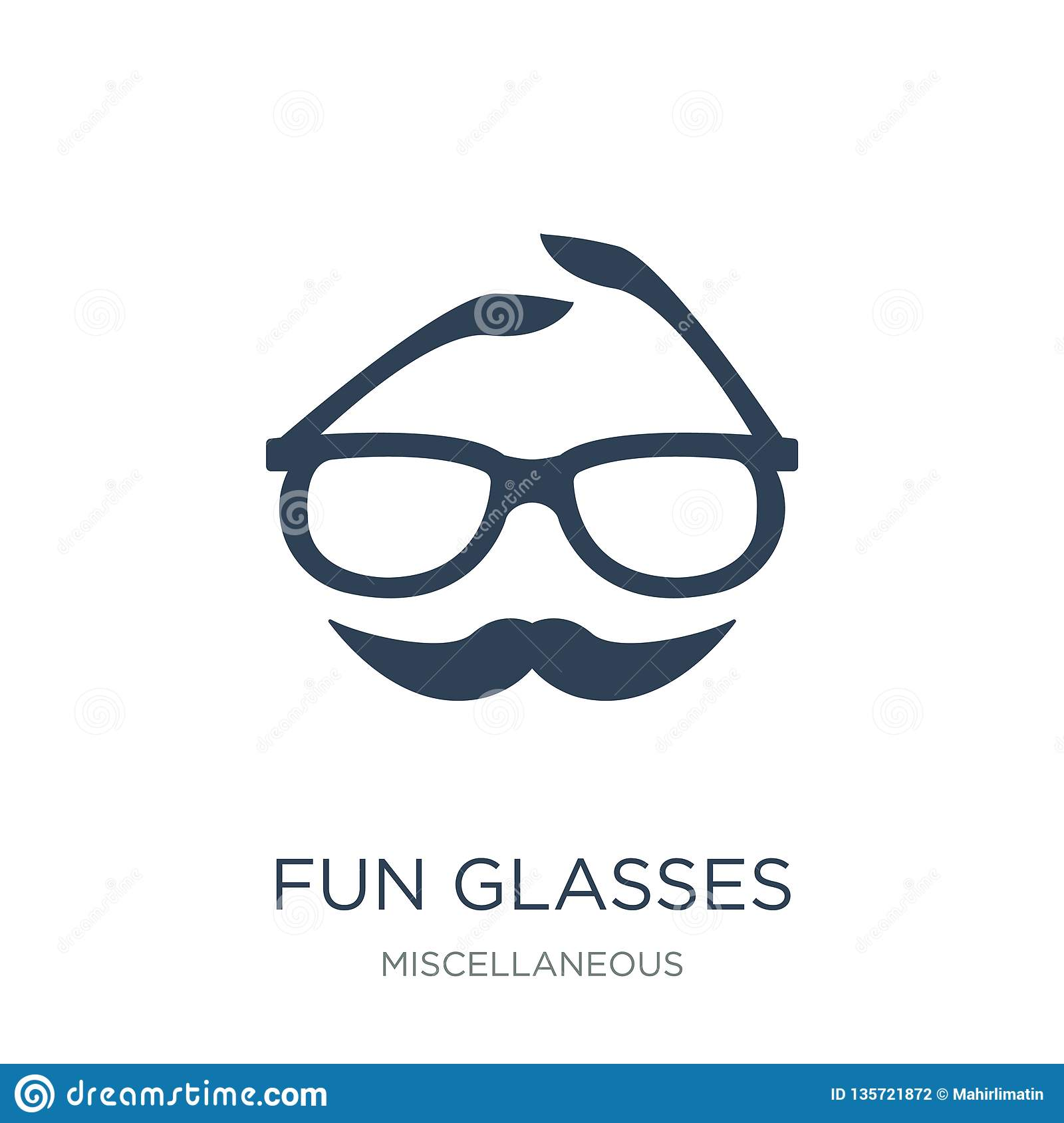fun glasses icon in trendy design style. fun glasses icon isolated on white background. fun glasses vector icon simple and modern