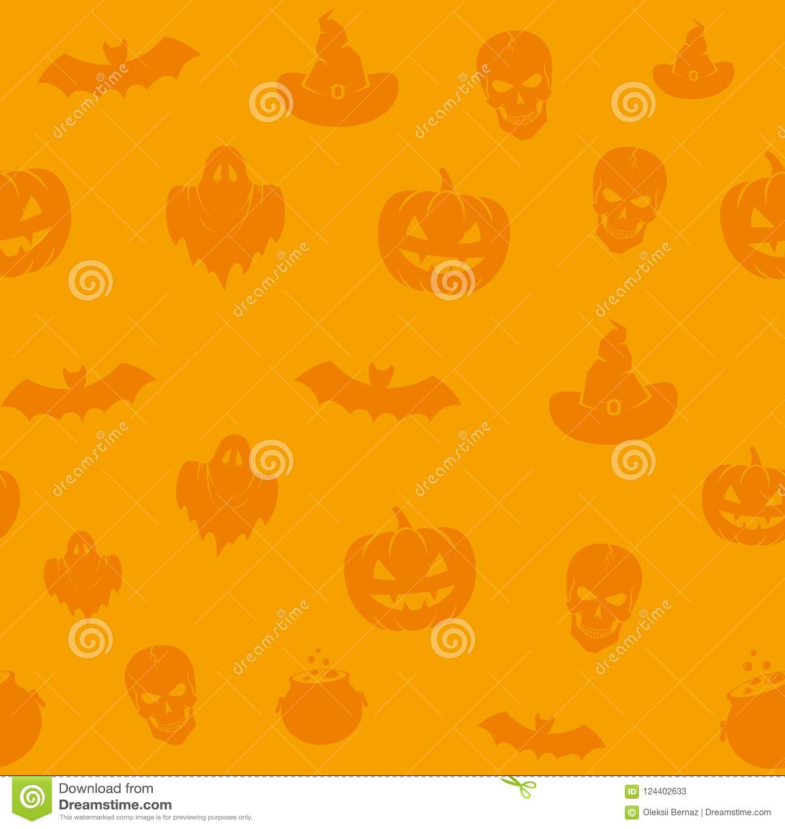 fun halloween icons vector seamless background pattern skulls