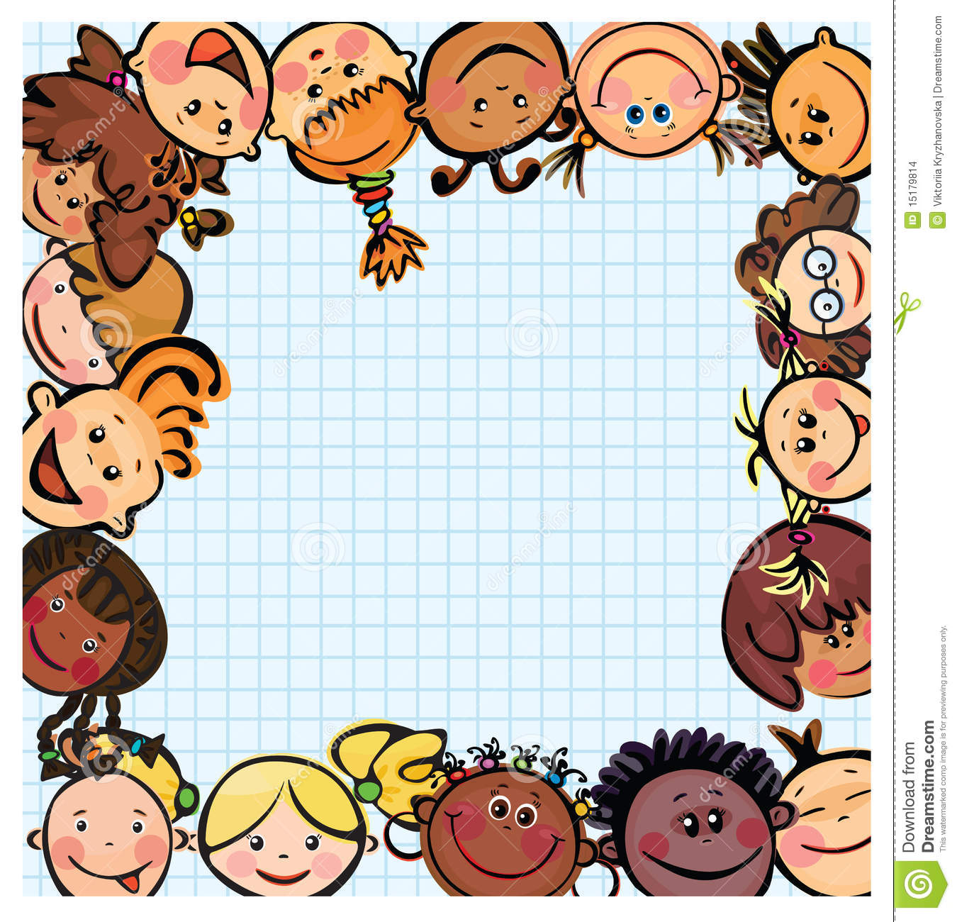 fun kids frame kids different races - Fun Kid Pictures