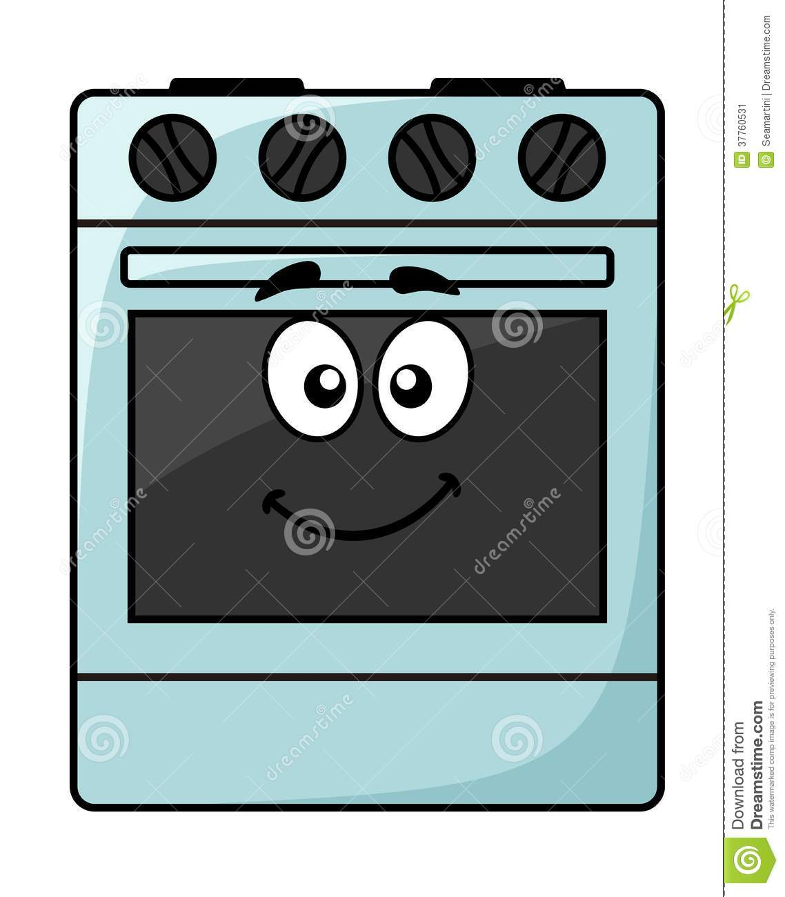 Cartoon kitchen appliance - a happy smiling freestanding electrical ...
