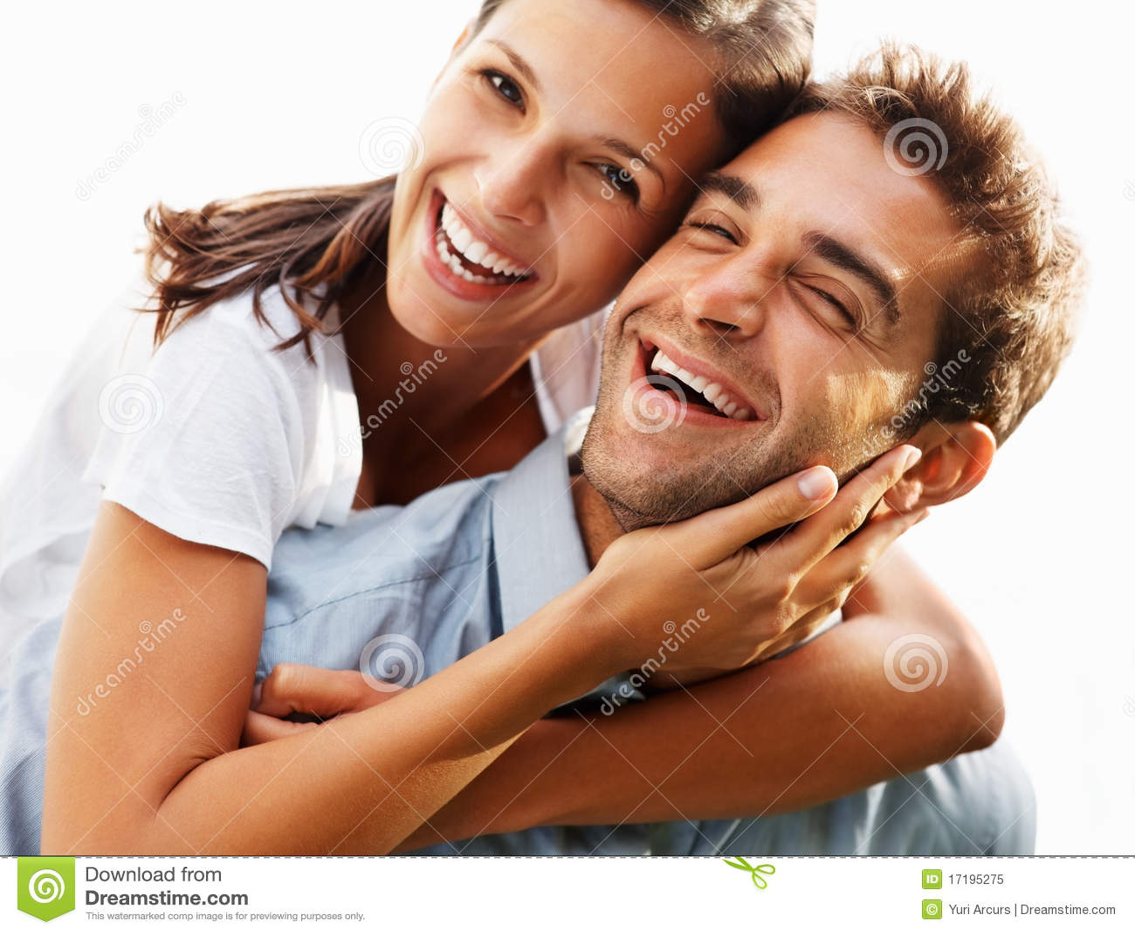 Fun-loving Couple Enjoying Life Stock Image