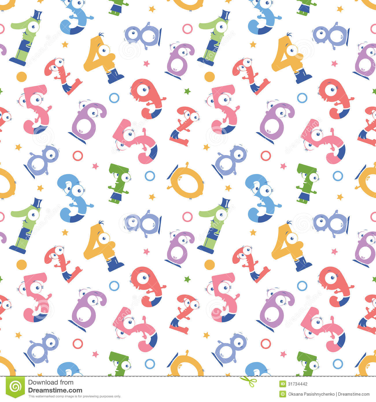 Fun numbers seamless pattern background stock vector for Fun pattern wallpaper