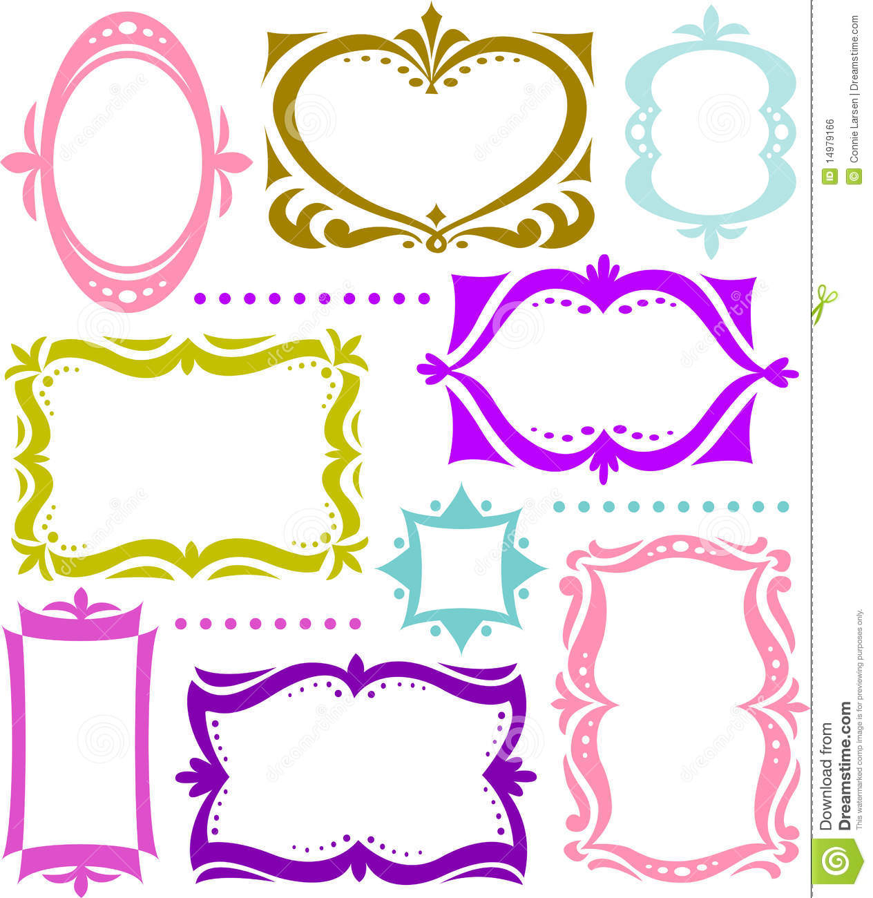 fun retro shape frame collectionai