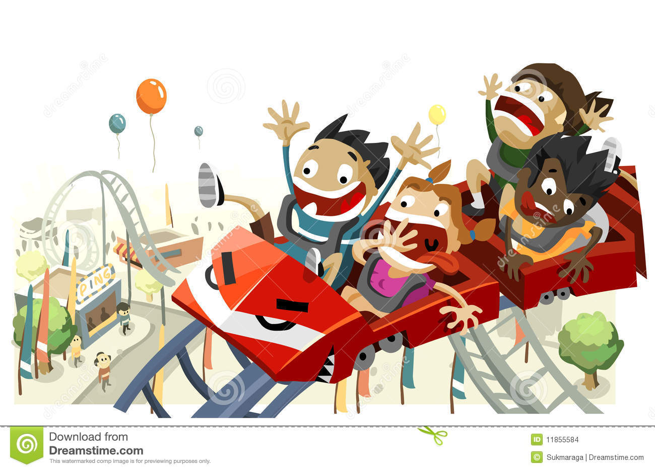 Fun With Roller Coaster Stock Images - Image: 11855584
