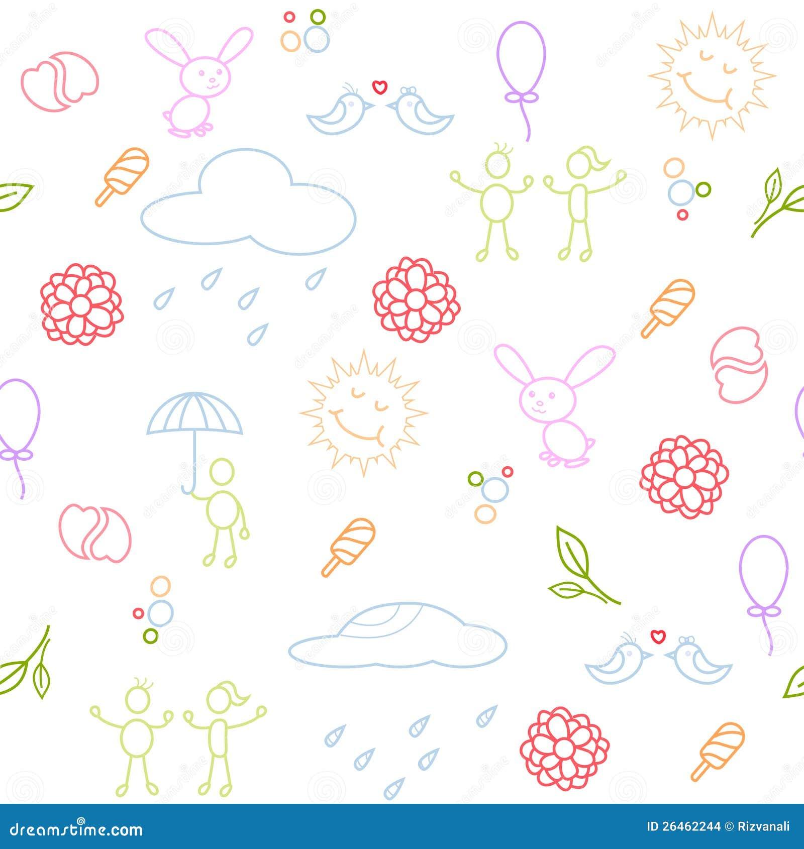 Fun seamless pattern stock images image 26462244 for Fun pattern wallpaper