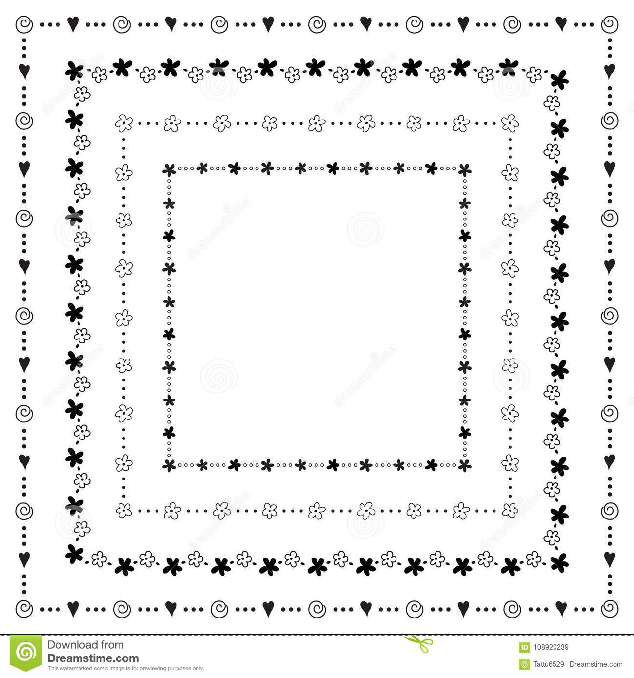 Fun square frames stock vector. Illustration of backgrounds - 108920239
