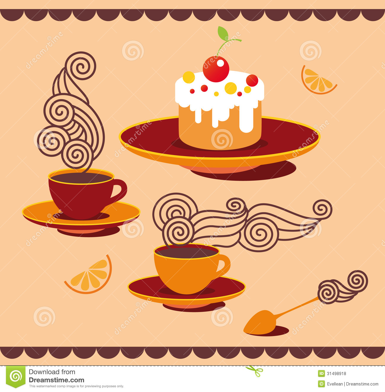 Fun Tea Set Royalty Free Stock Photos - Image: 31498918
