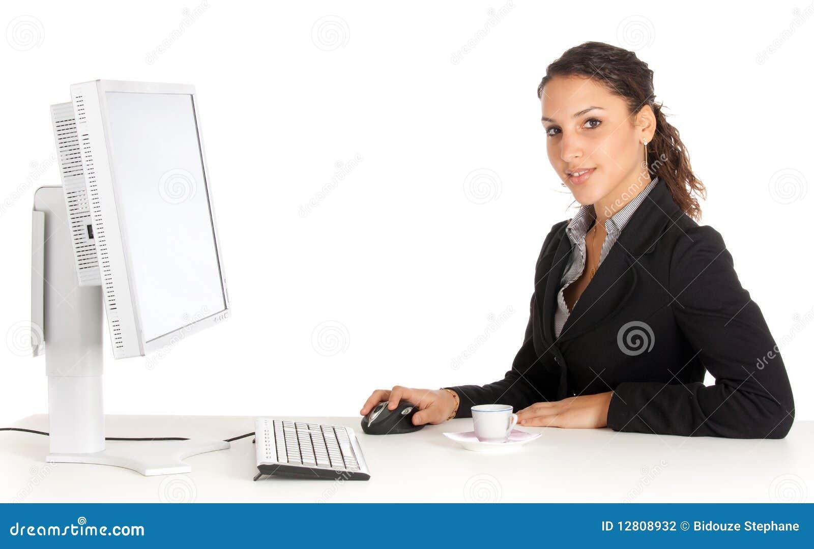 Funcionamento novo da mulher de negócios