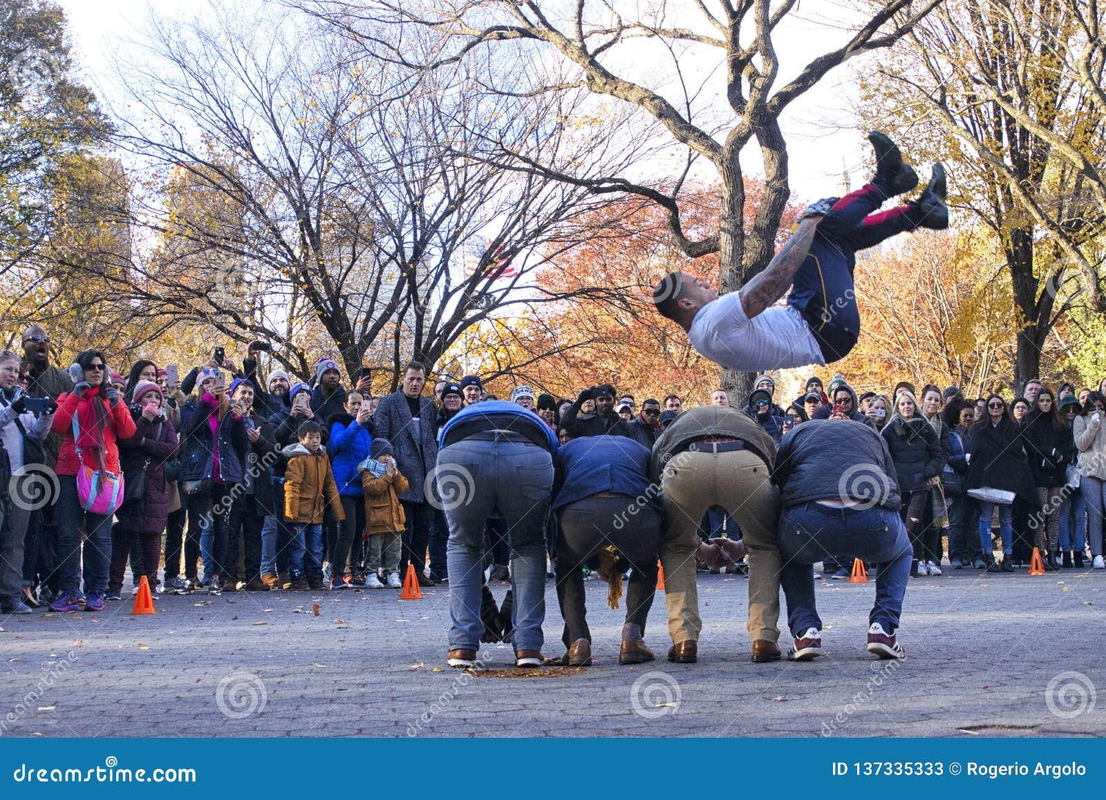Funcionamiento de la calle del salto en Central Park Nueva York