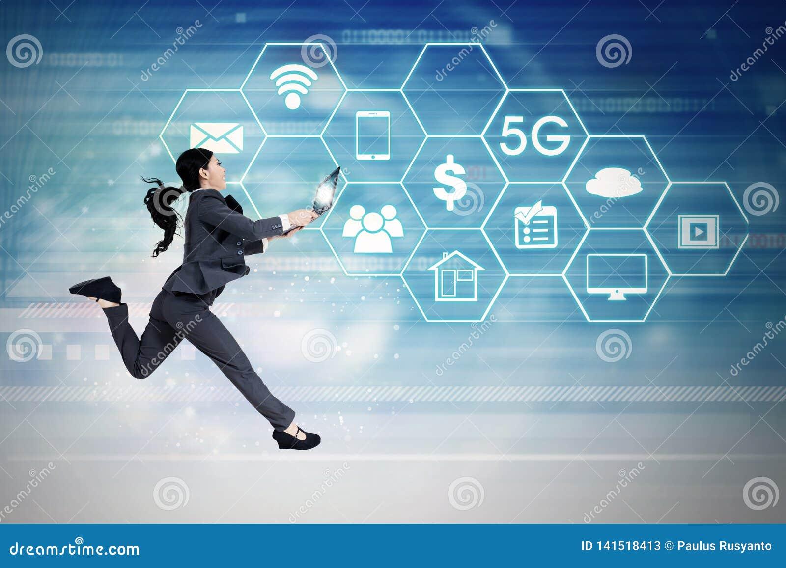 Funcionamiento de la empresaria con los sistemas de red 5G