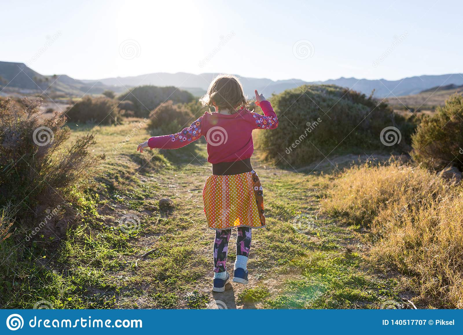 Funcionamiento de la niña con el paisaje español