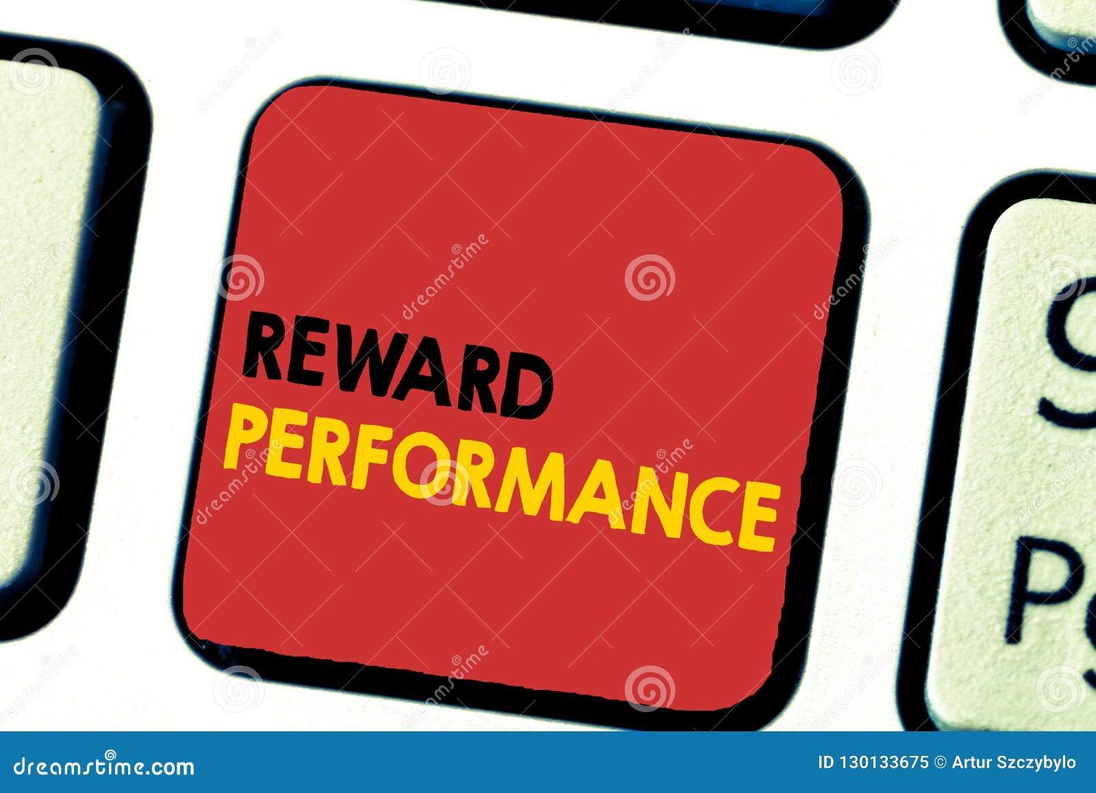 Funcionamiento de la recompensa del texto de la escritura de la palabra El concepto del negocio para la valoración reconoce valor