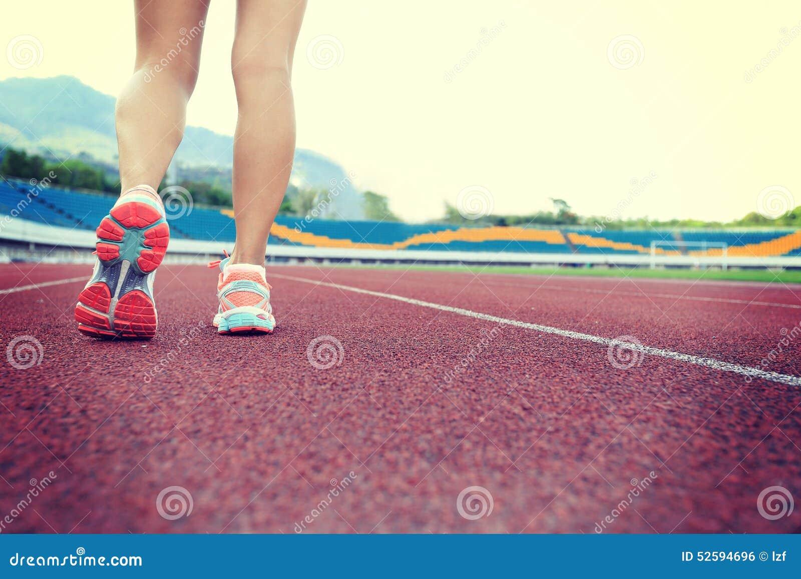 Funcionamiento del atleta del corredor