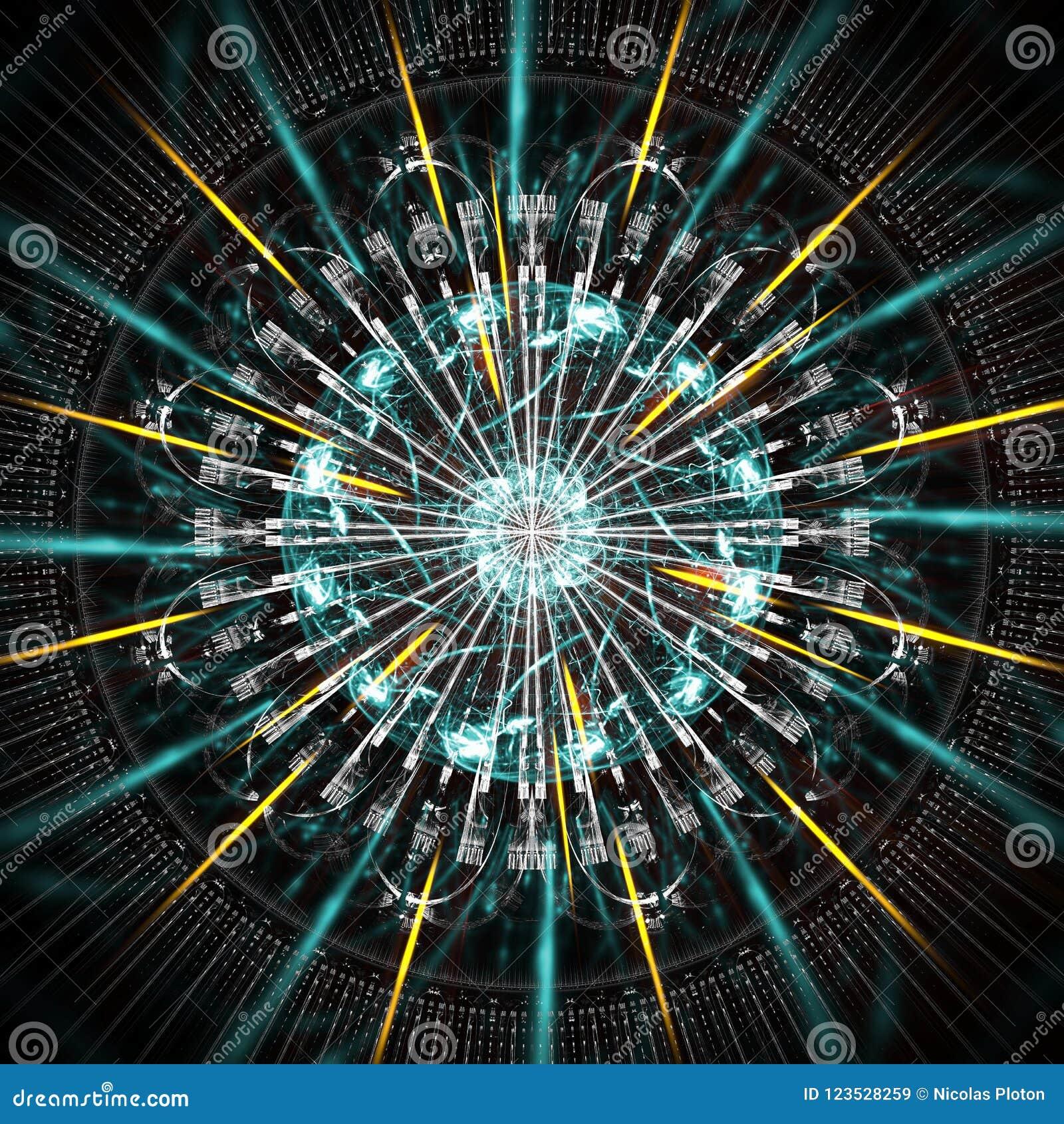 Funcionamiento del ordenador de Quantum, con los elementos del movimiento