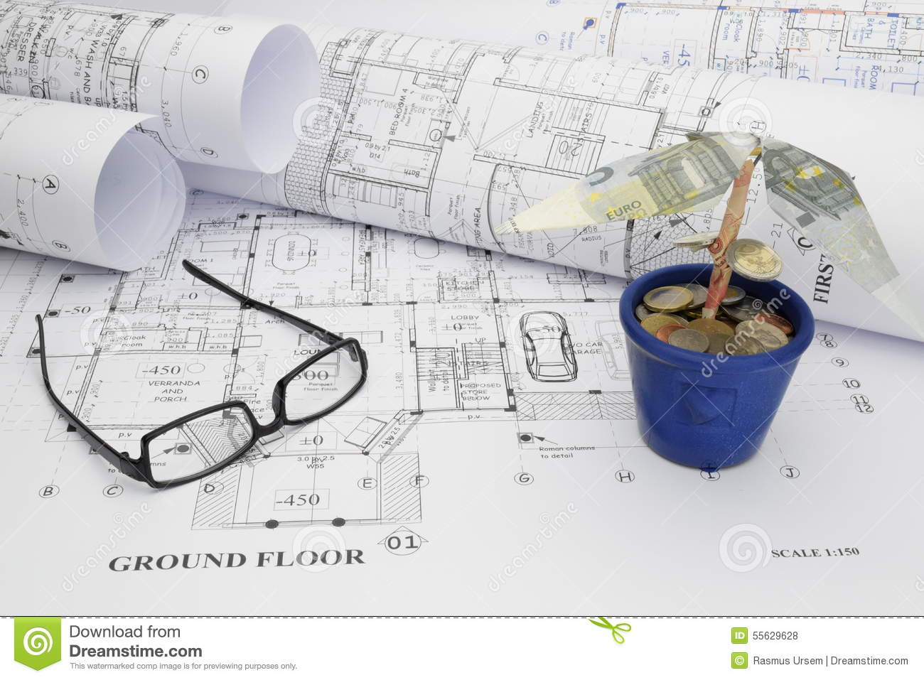 Funding The Dream House Construction Project Stock Photo