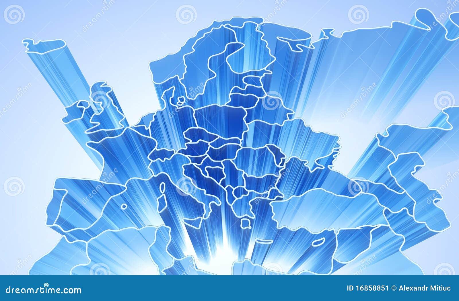 Fundo 3D abstrato de Europa