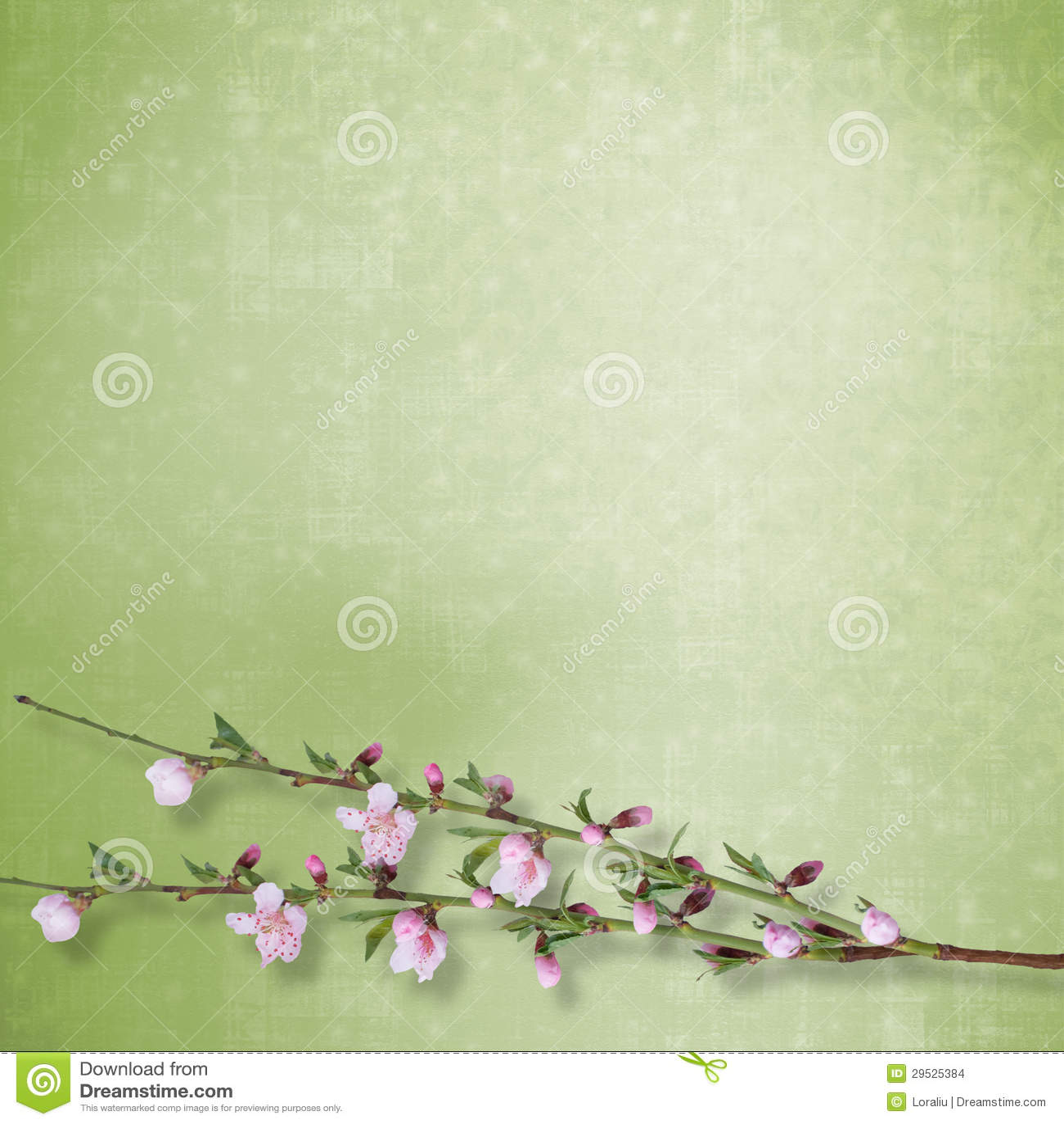 Fundo abstrato bonito com ramo