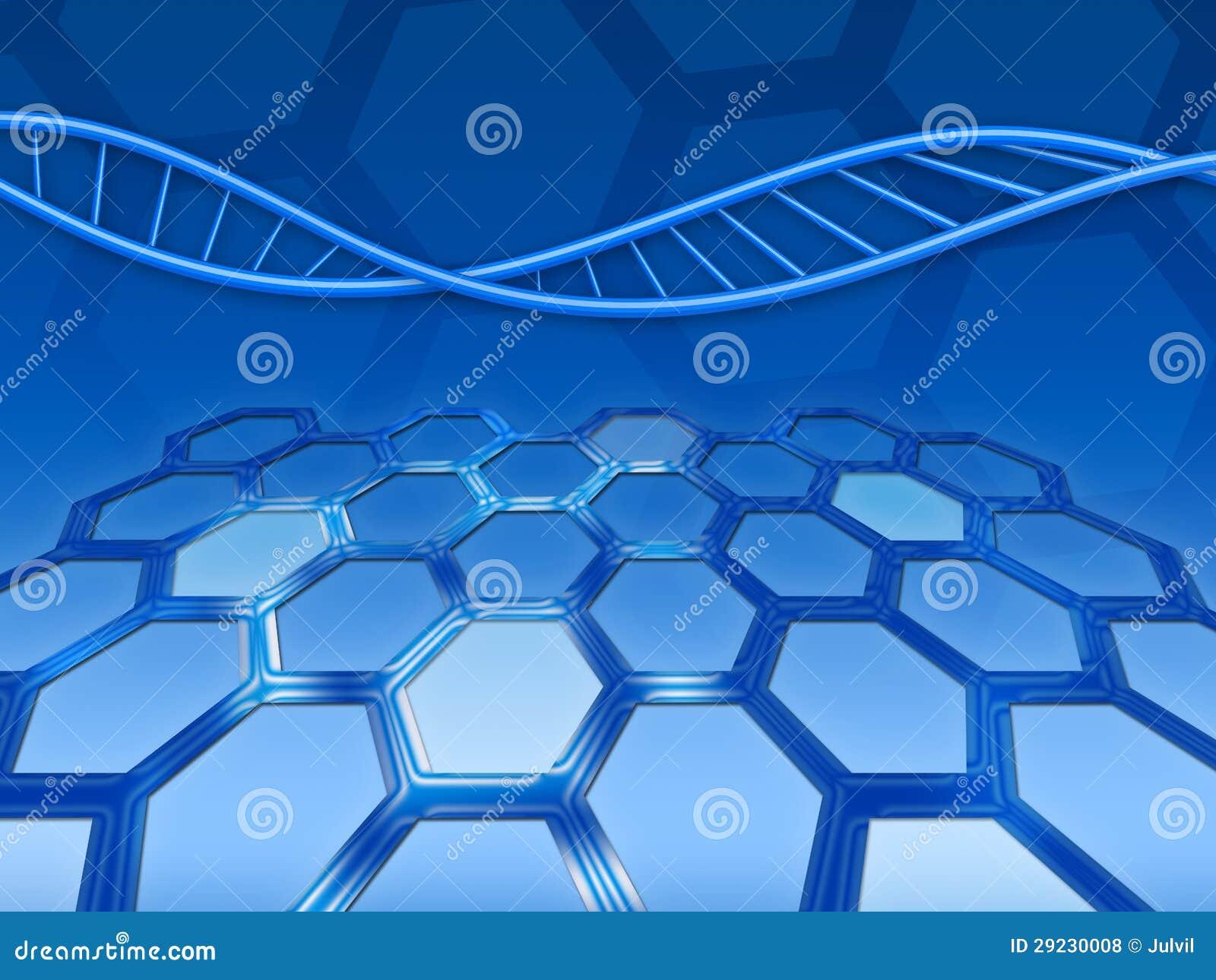 Download Fundo abstrato com ADN ilustração stock. Ilustração de sumário - 29230008