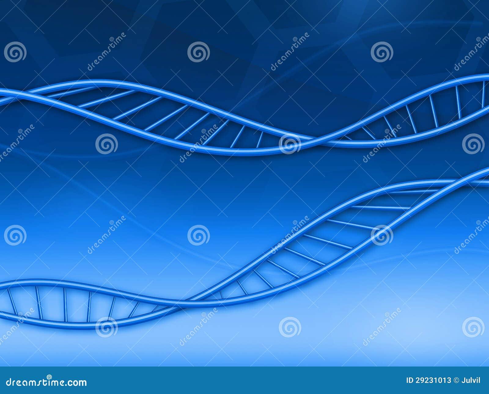 Download Fundo abstrato com ADN ilustração stock. Ilustração de biologia - 29231013