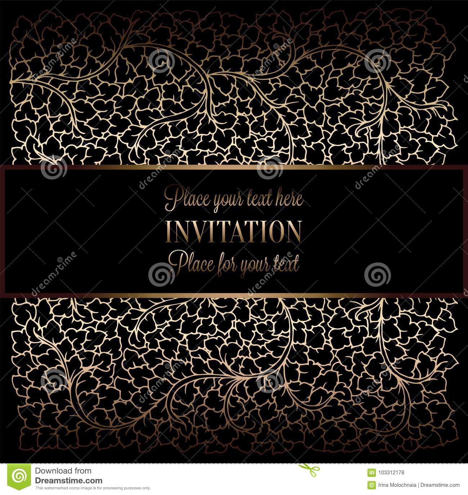 Fundo abstrato com antiguidade, preto luxuoso e quadro do vintage do ouro, bandeira do victorian, ornamento do papel de parede fl