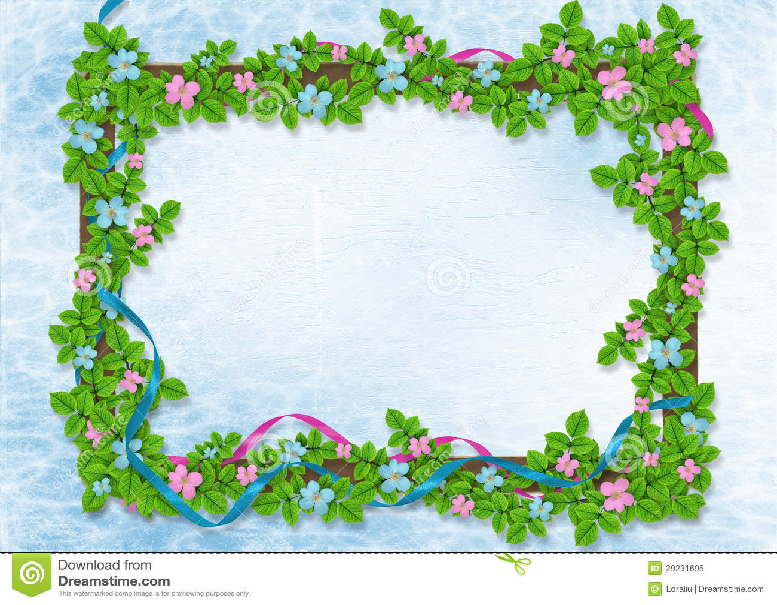 Download Fundo Abstrato Com Festão Floral Ilustração Stock - Ilustração de anúncio, verde: 29231695