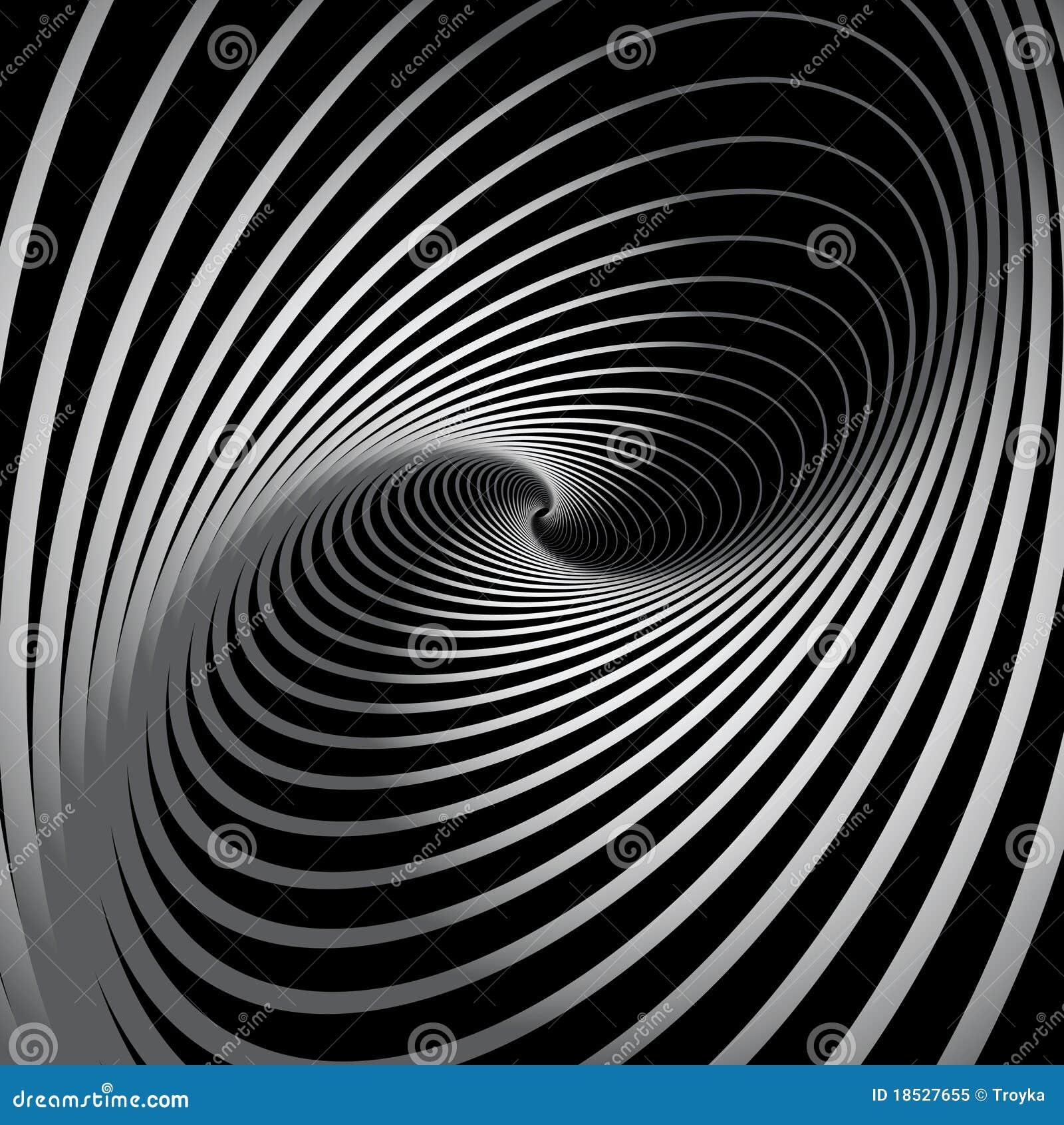 Fundo abstrato com movimento espiral do giro.