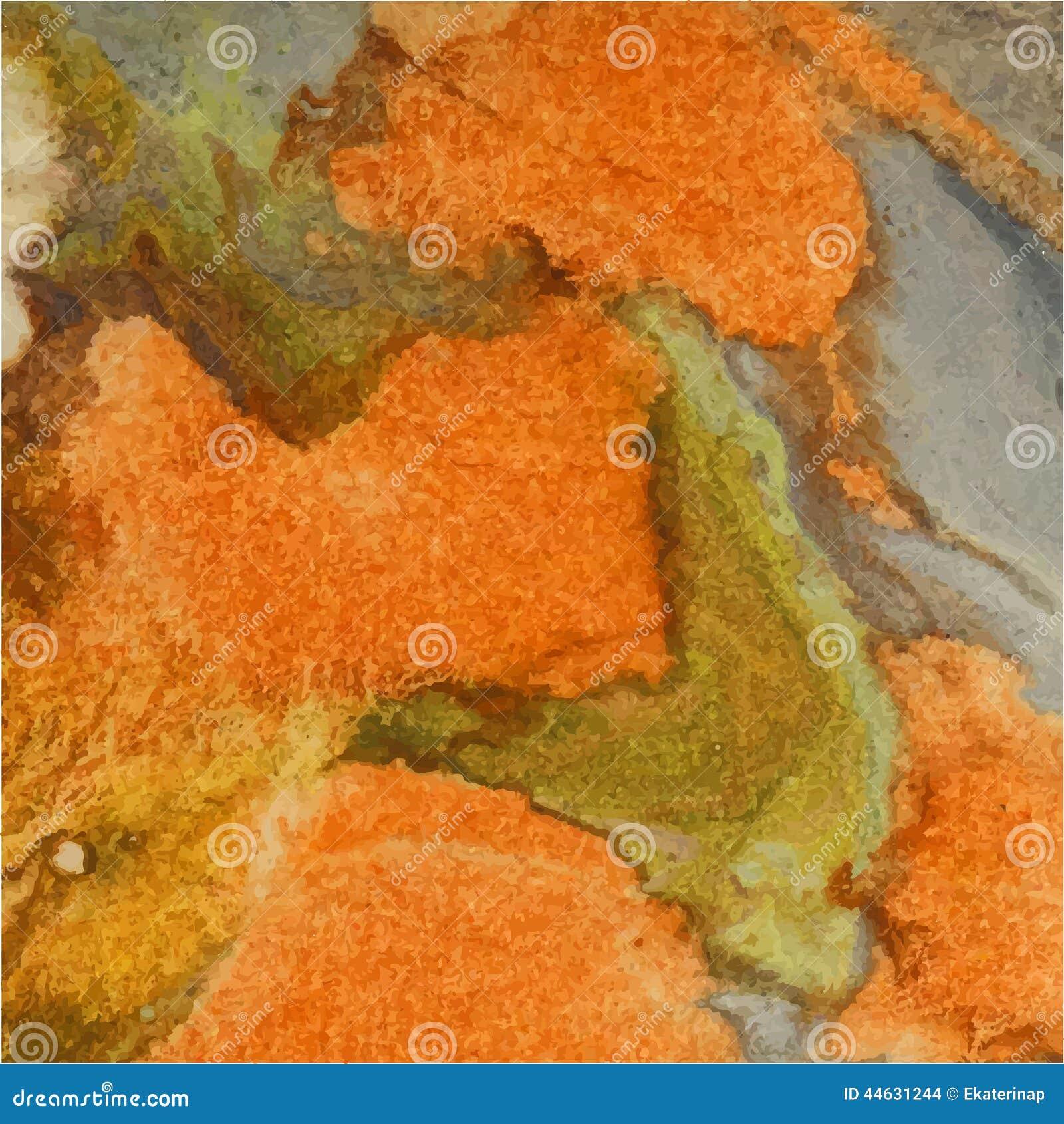 Fundo abstrato da aguarela Alaranjado, verde, marrom outono