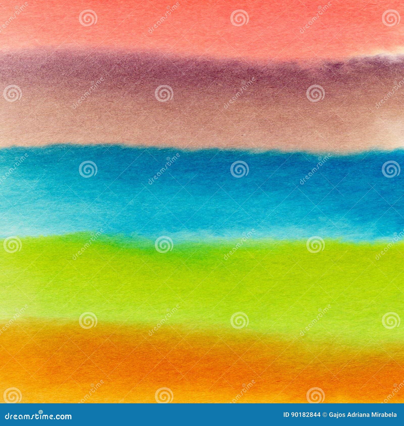 Fundo abstrato da aguarela Fundo colorido fresco