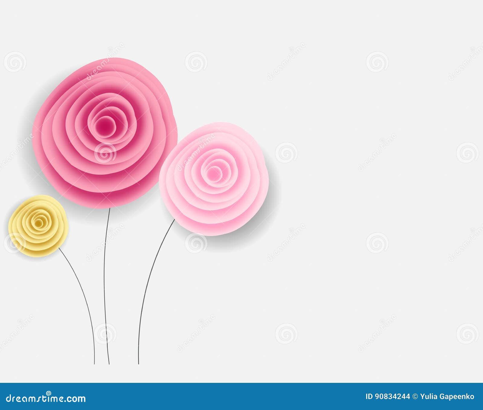 Fundo abstrato da flor de papel Ilustração do vetor