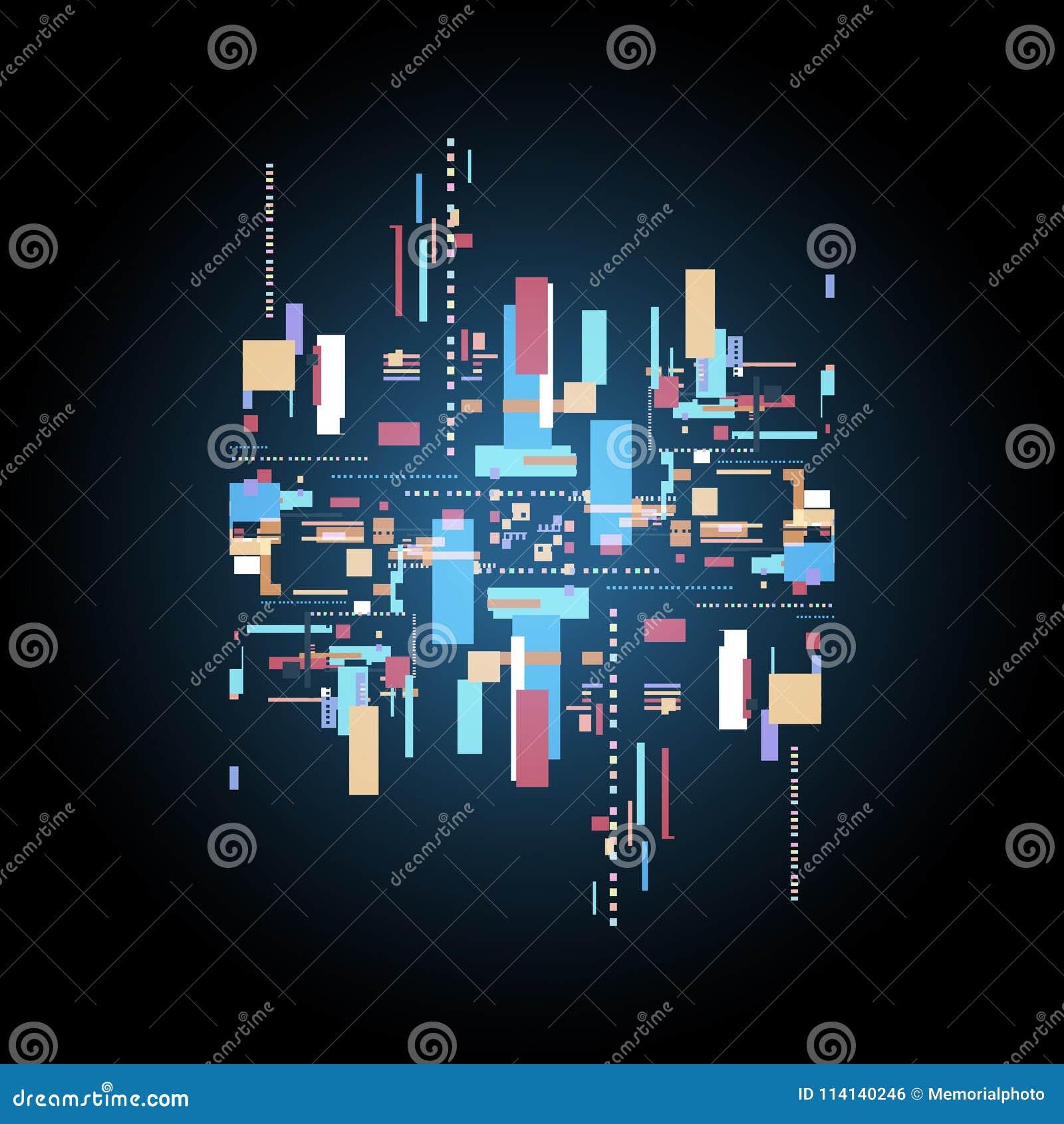 Circuito Eletronico : Fundo abstrato da informática digital circuito eletrônico