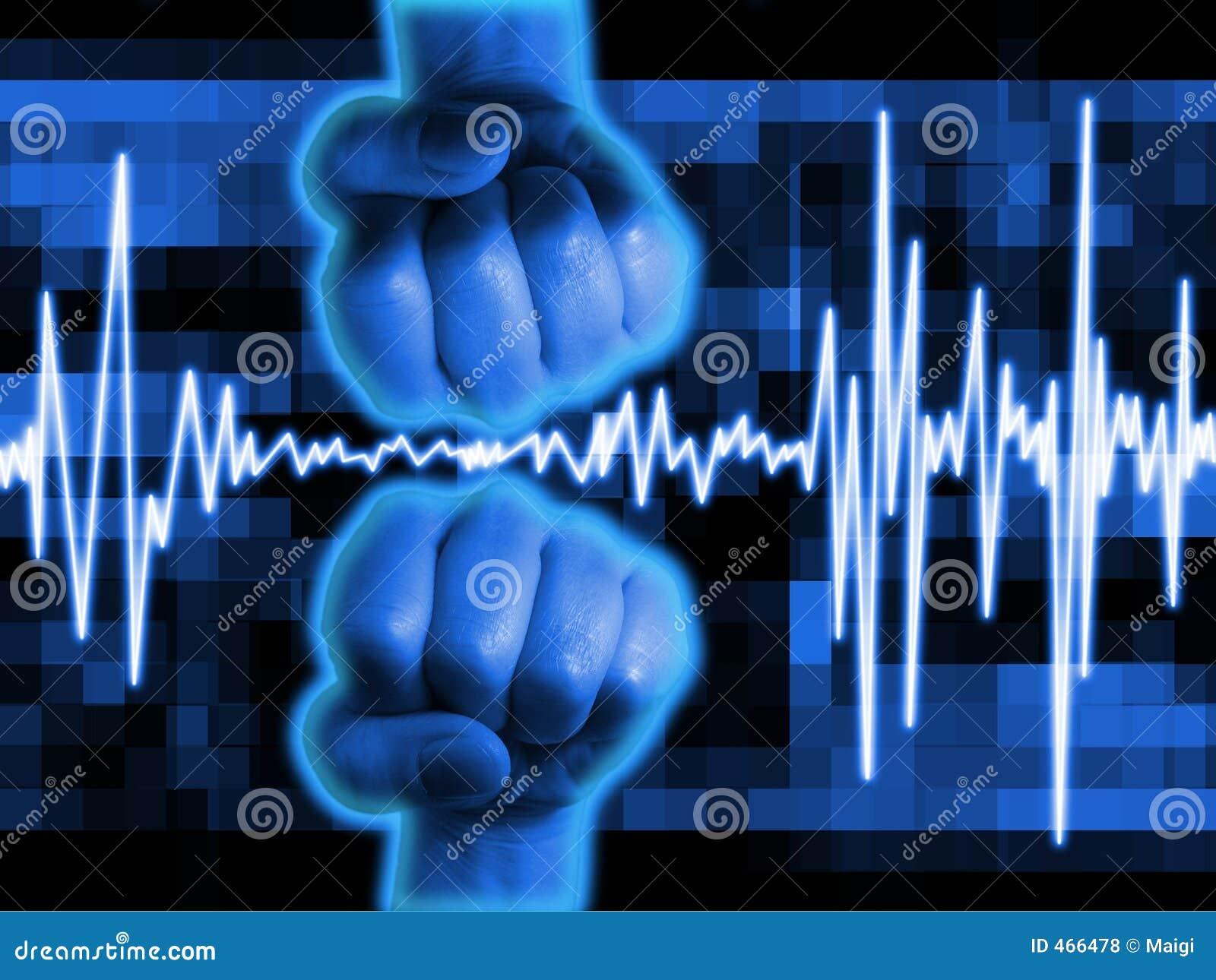 Fundo abstrato da pulsação do coração