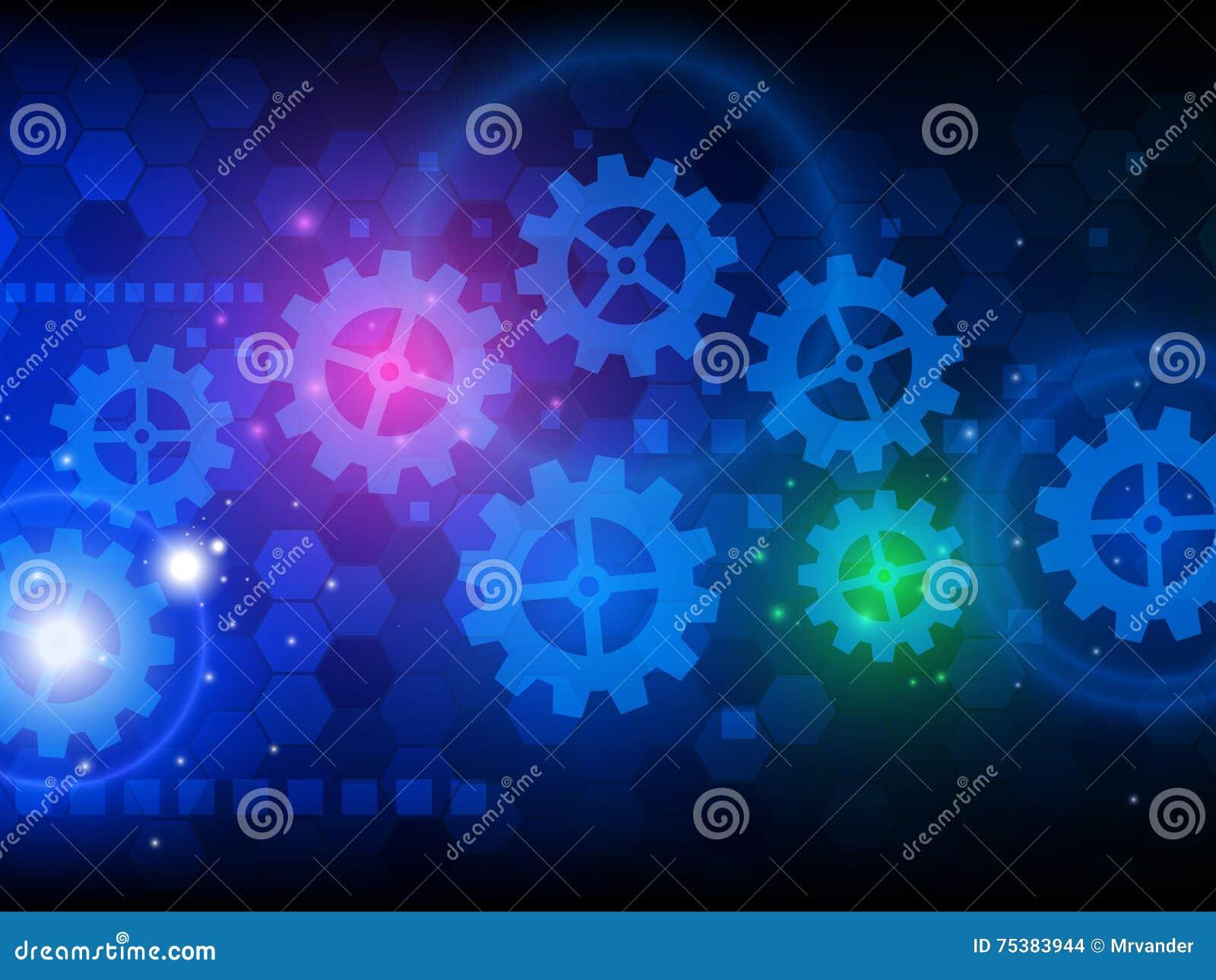 Fundo abstrato da tecnologia da olá!-tecnologia da engenharia Ilustração do vetor
