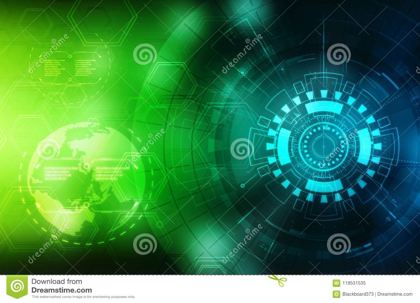 Fundo abstrato da tecnologia, fundo futurista, conceito do Cyberspace