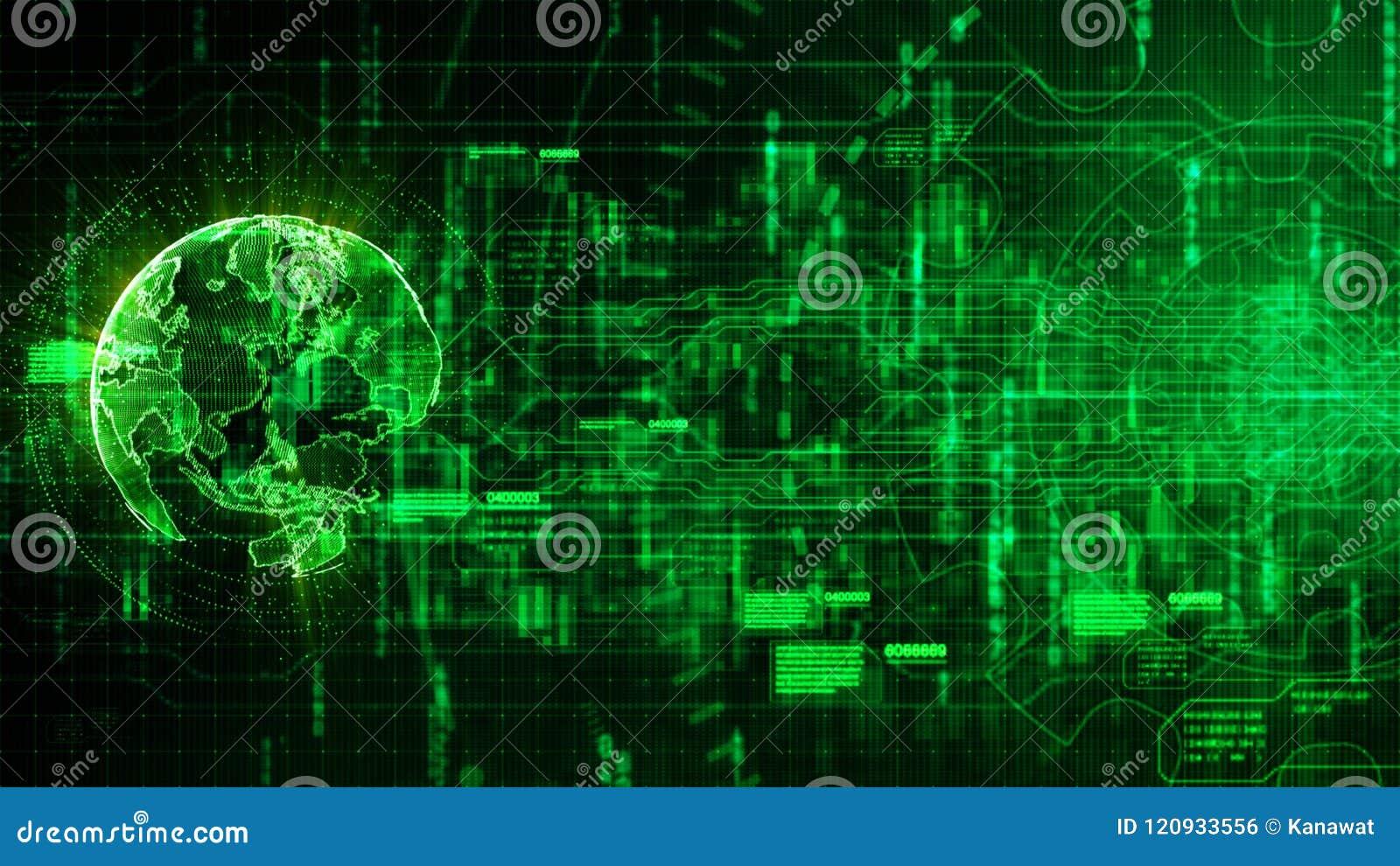 Fundo abstrato digital da Olá!-tecnologia com engrenagem e orelha da tecnologia