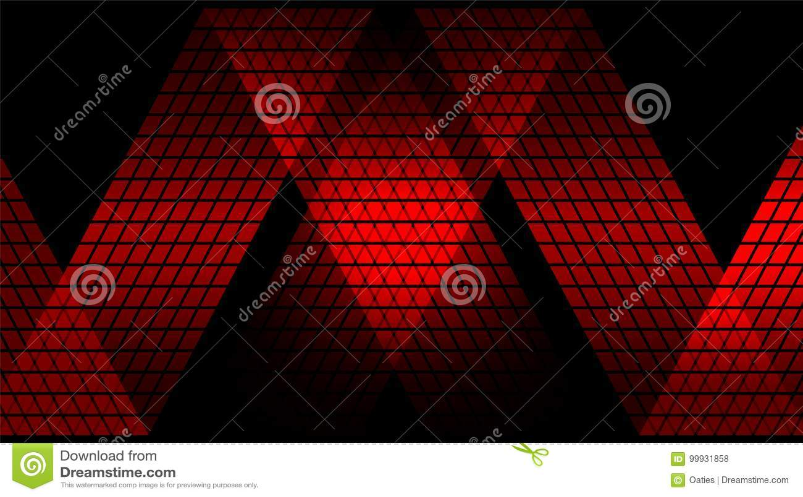 Fundo abstrato digital vermelho da tecnologia