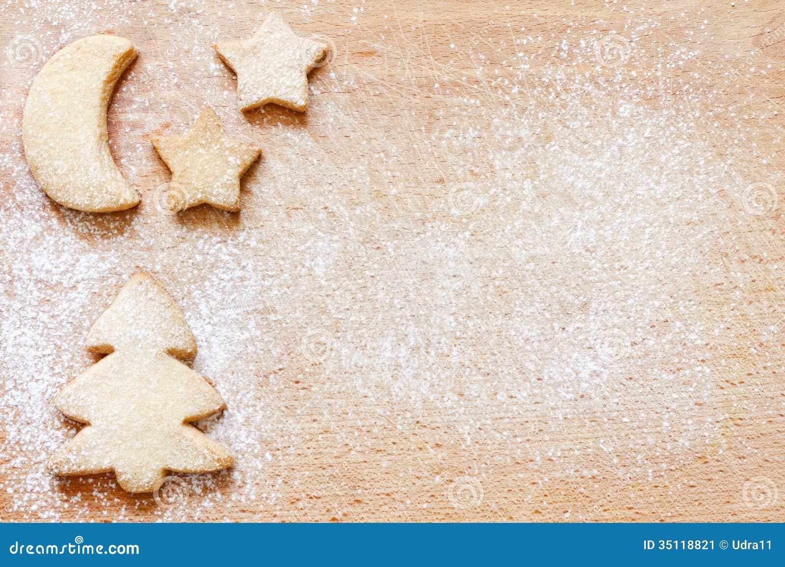 Fundo abstrato do alimento das cookies do cozimento do Natal