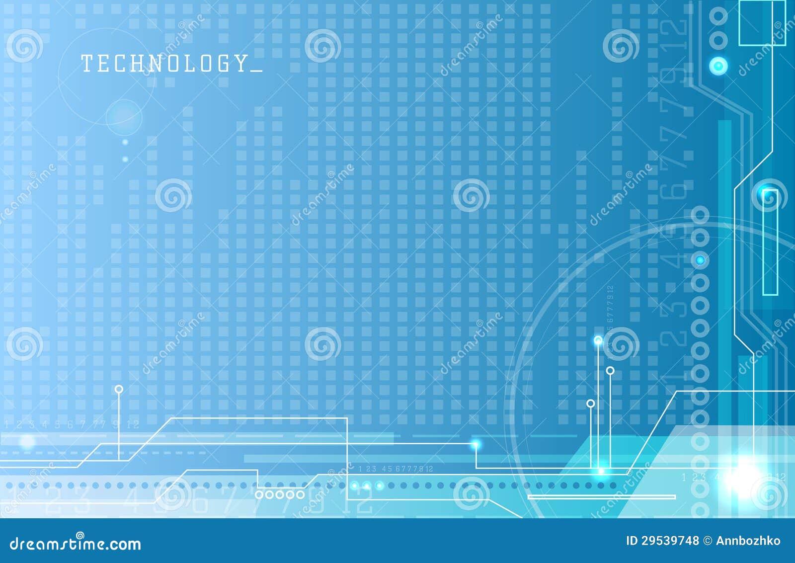 Fundo abstrato do azul da eletrônica