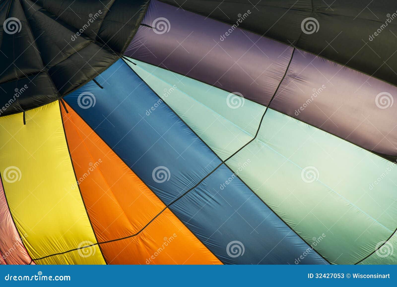 Fundo abstrato do balão de ar quente, cores
