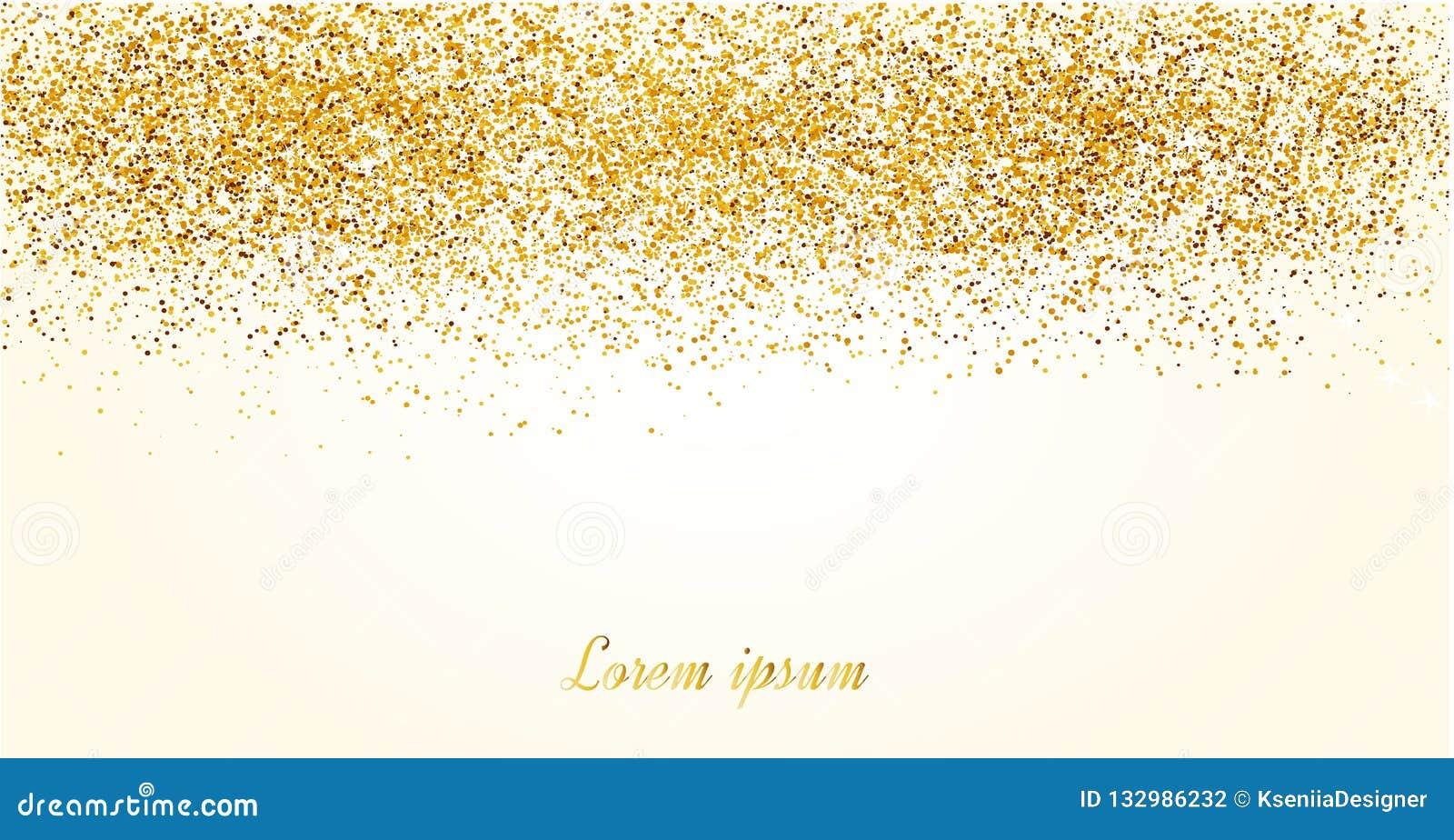 Fundo abstrato do brilho do ouro Sparkles brilhantes para o cartão