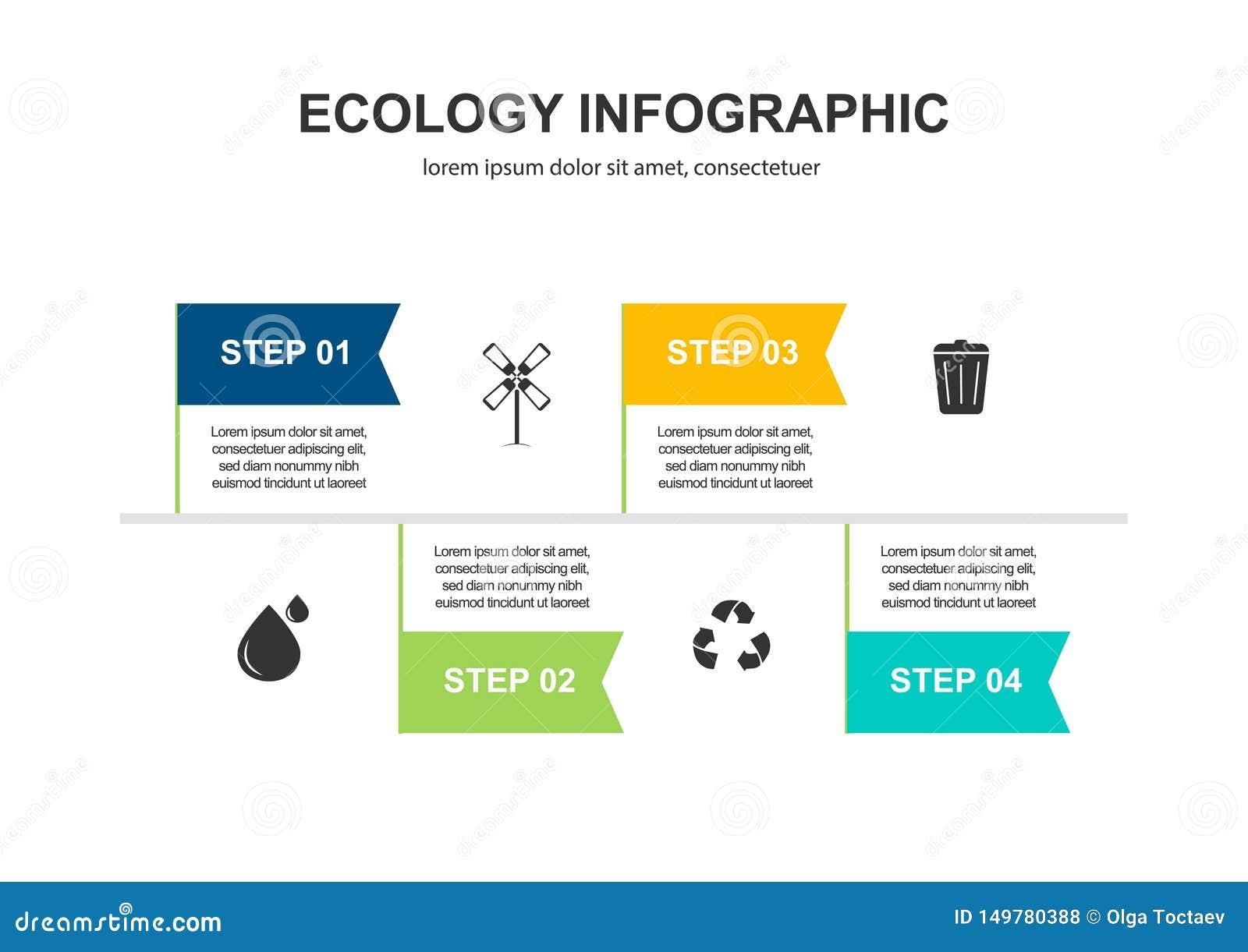 Fundo abstrato do conceito da ecologia Ilustra??o infographic do vetor