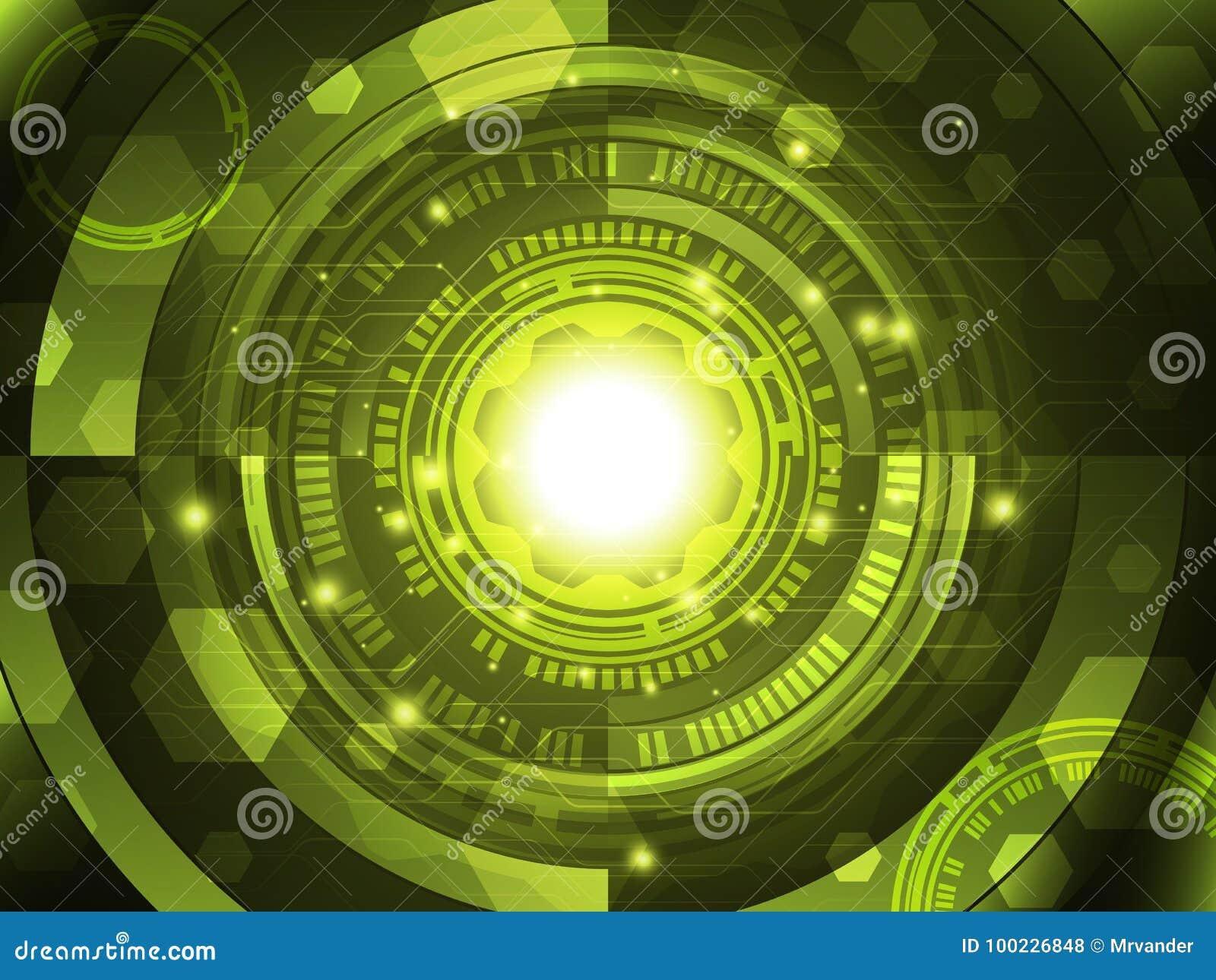 Fundo abstrato do conceito da tecnologia Ilustração do vetor