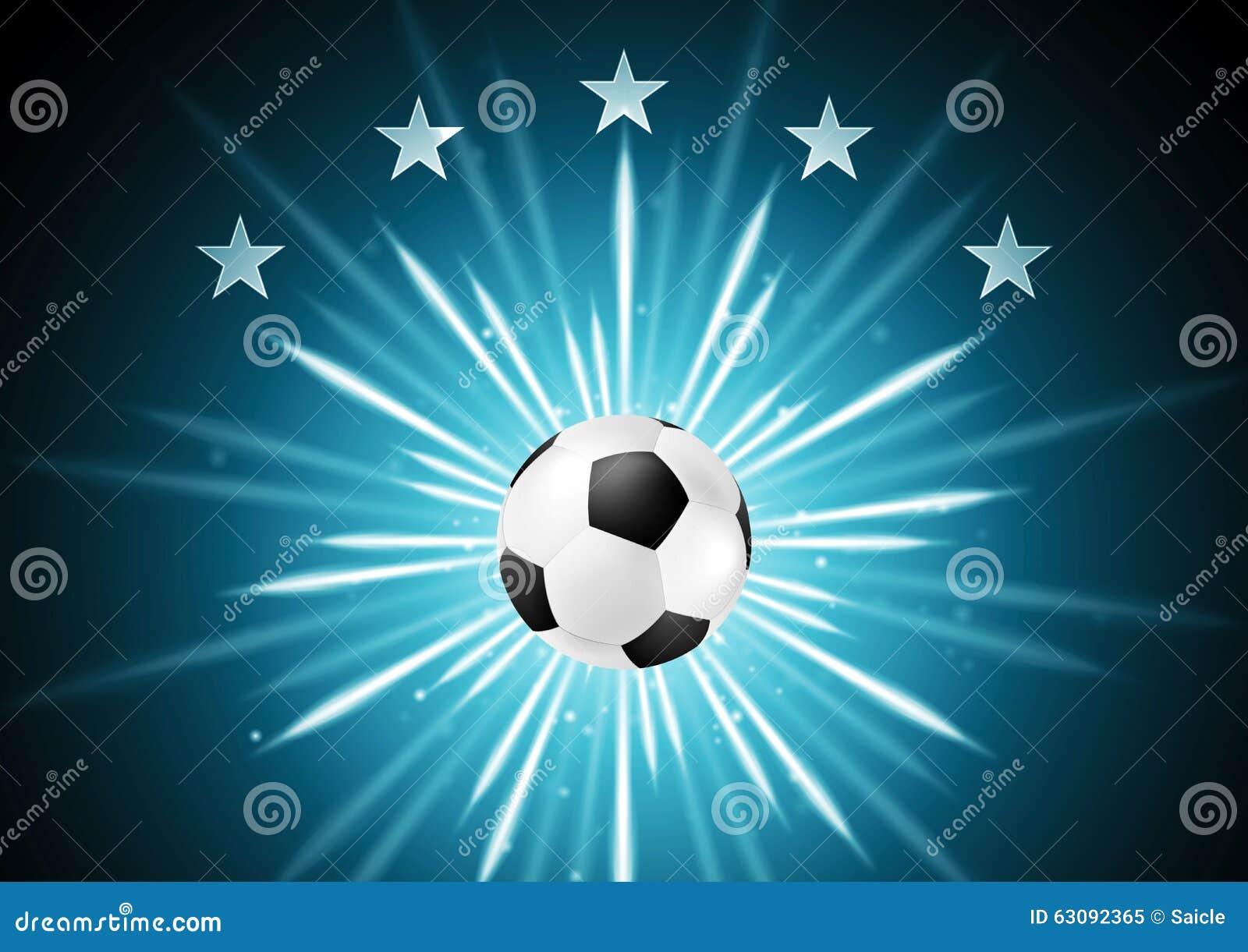 Fundo Abstrato Do Futebol Com Bola E Estrelas Ilustração do Vetor ... 849037a21e9c8