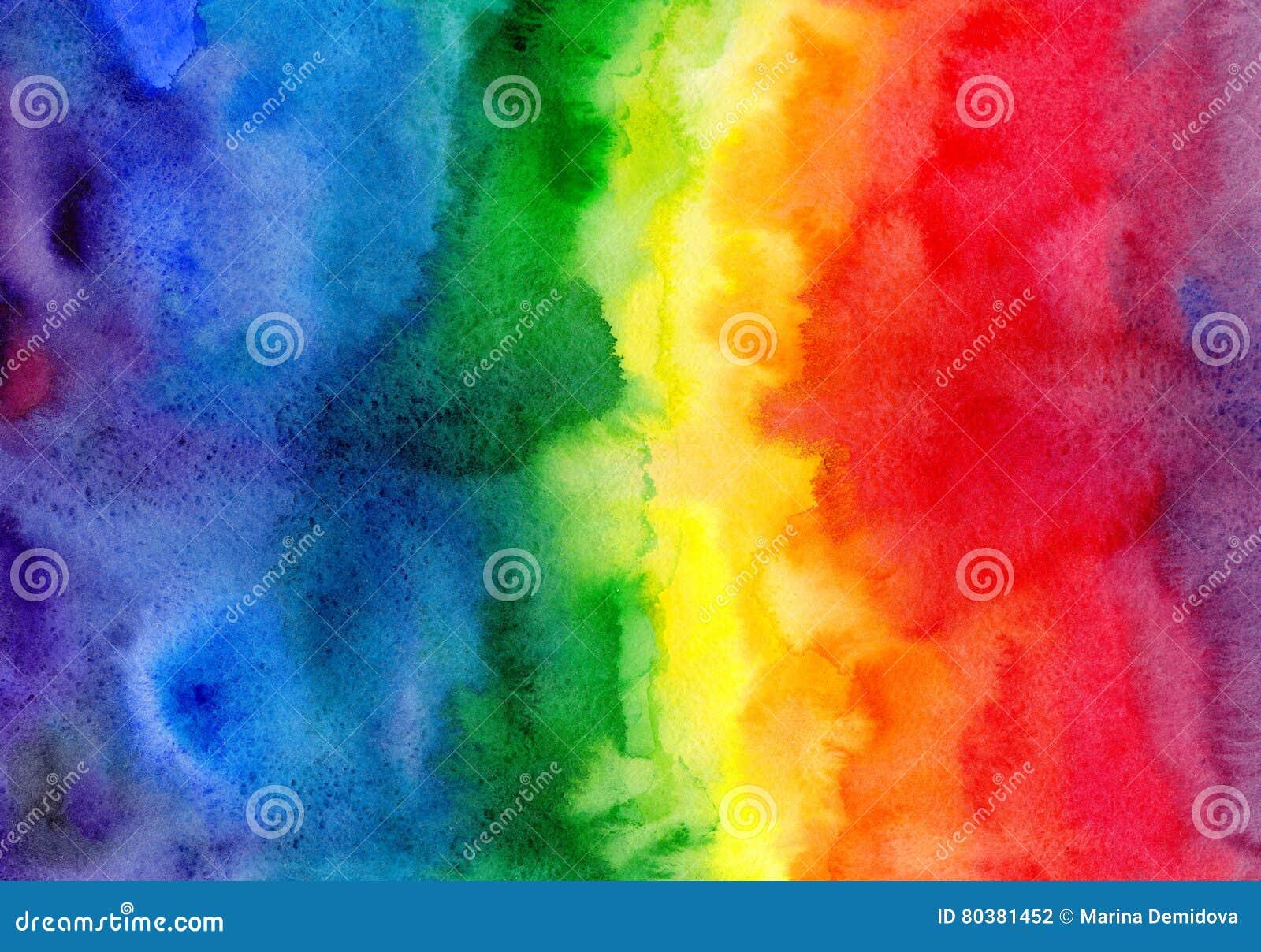 Fundo abstrato do inclinação do arco-íris da aquarela
