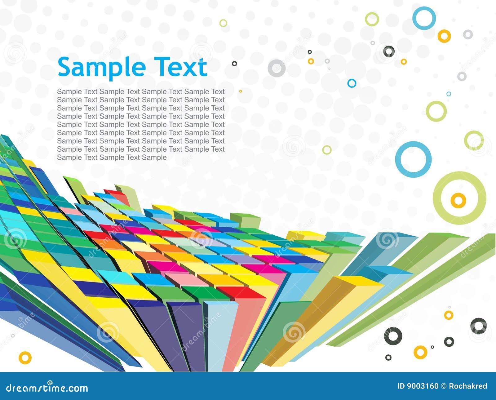 Fundo abstrato do mosaico 3d